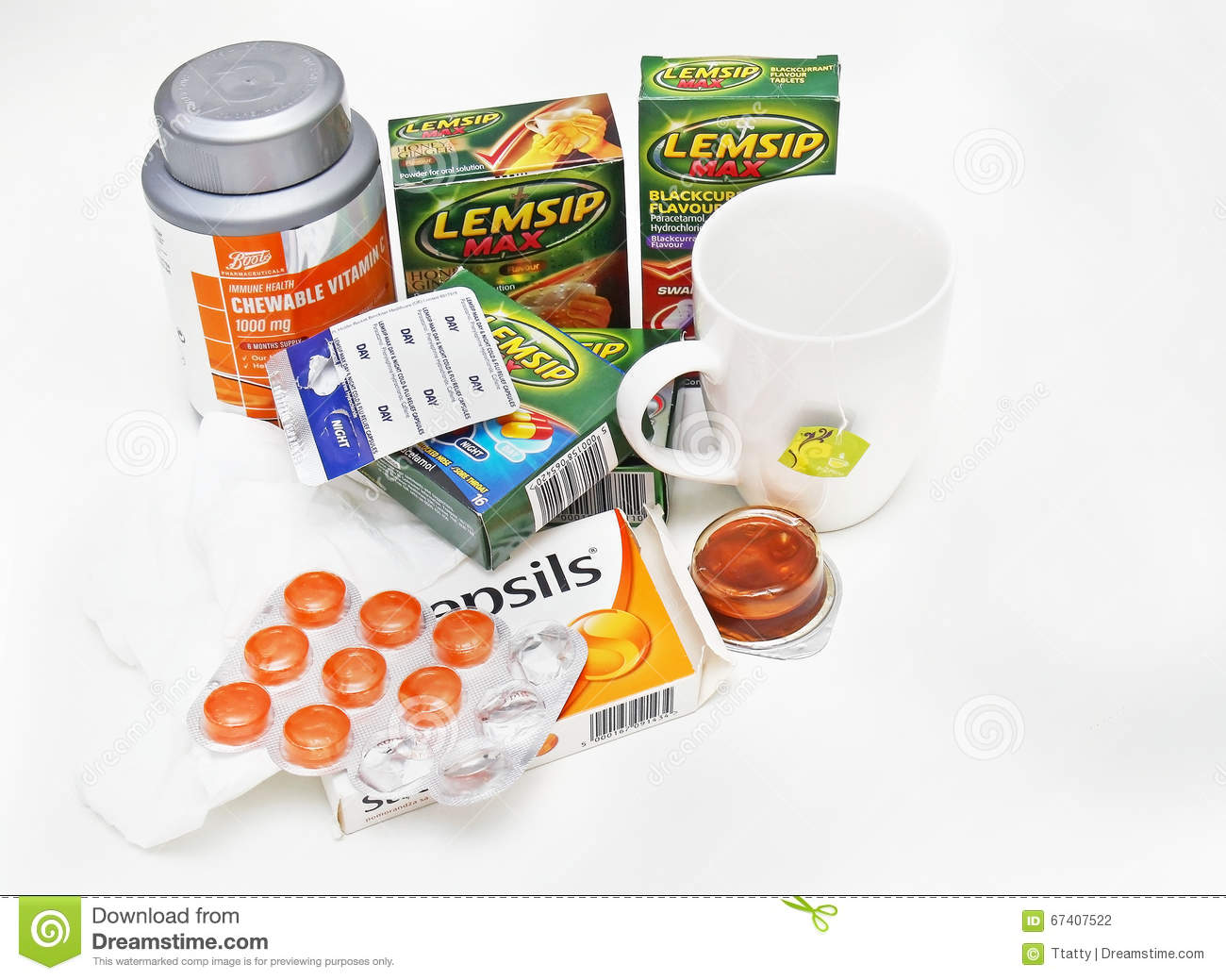 Flu season remedies editorial photography  Image of ibuprofen - 67407522