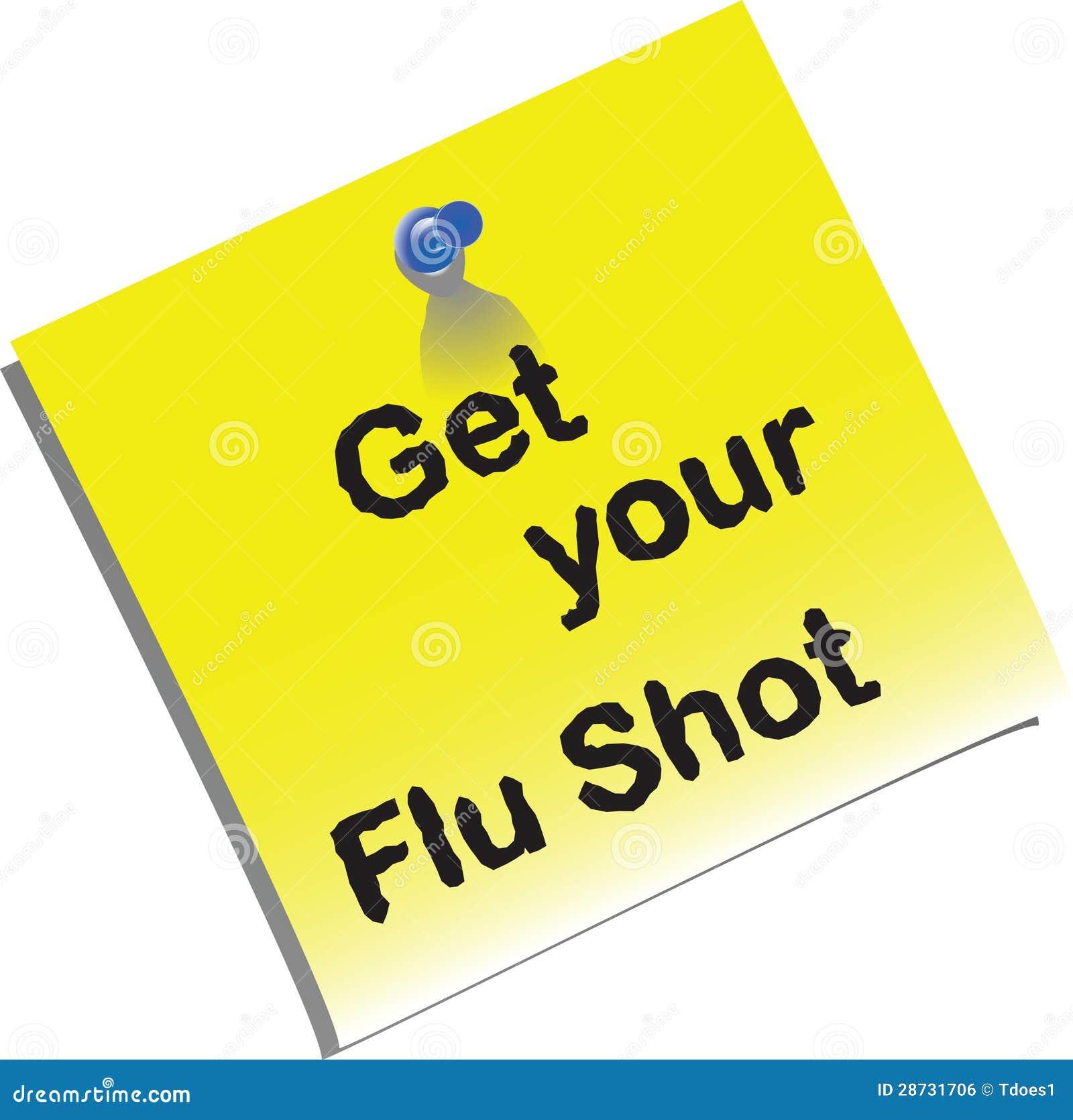 flu shot memo royalty stock image image  flu shot memo