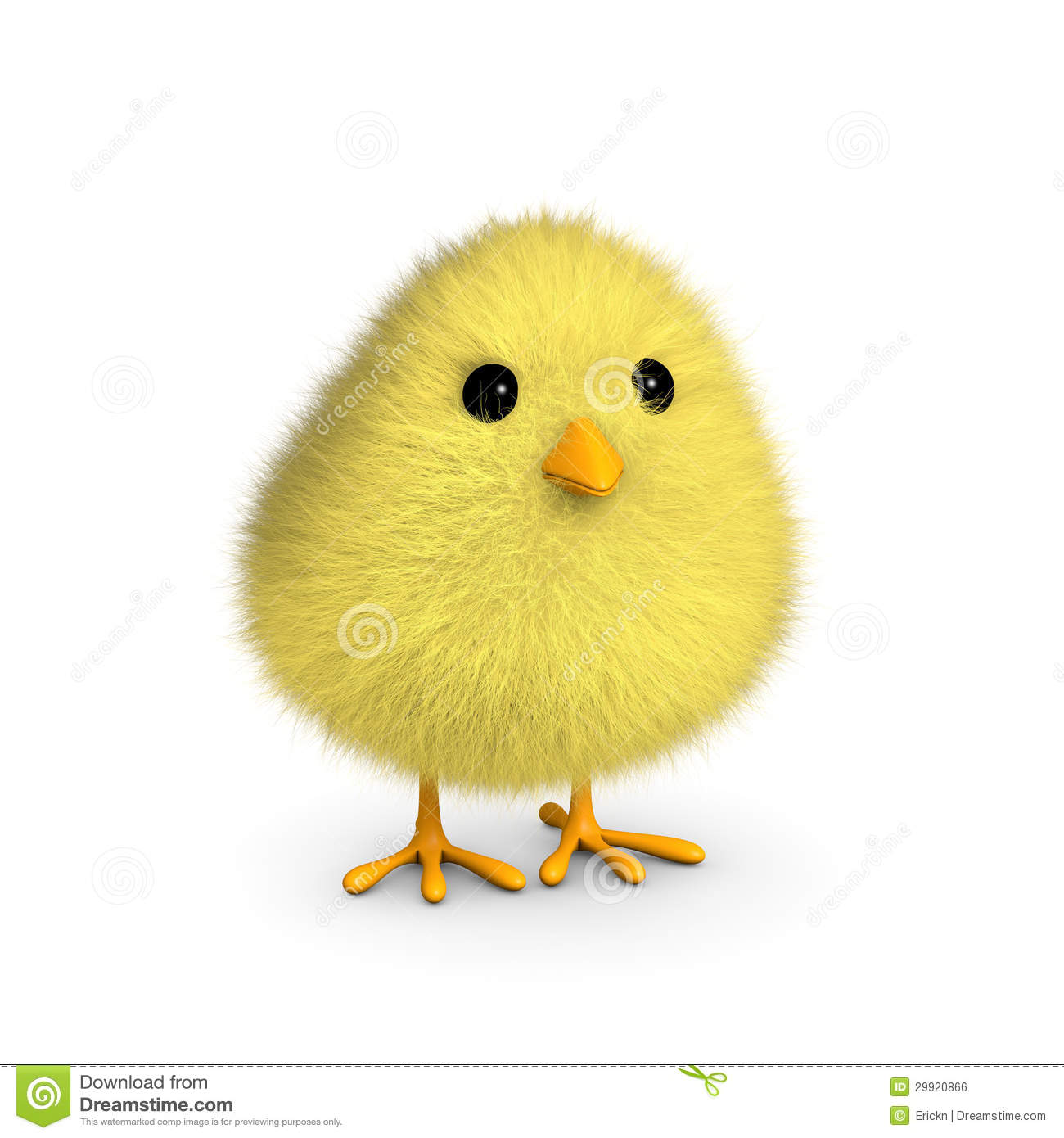 Fluffy Yellow Chick Royalty Free Stock Image Image 29920866