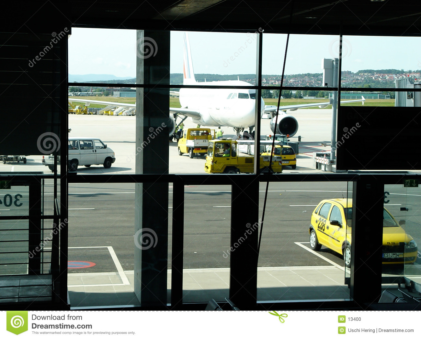 Flughafenszene