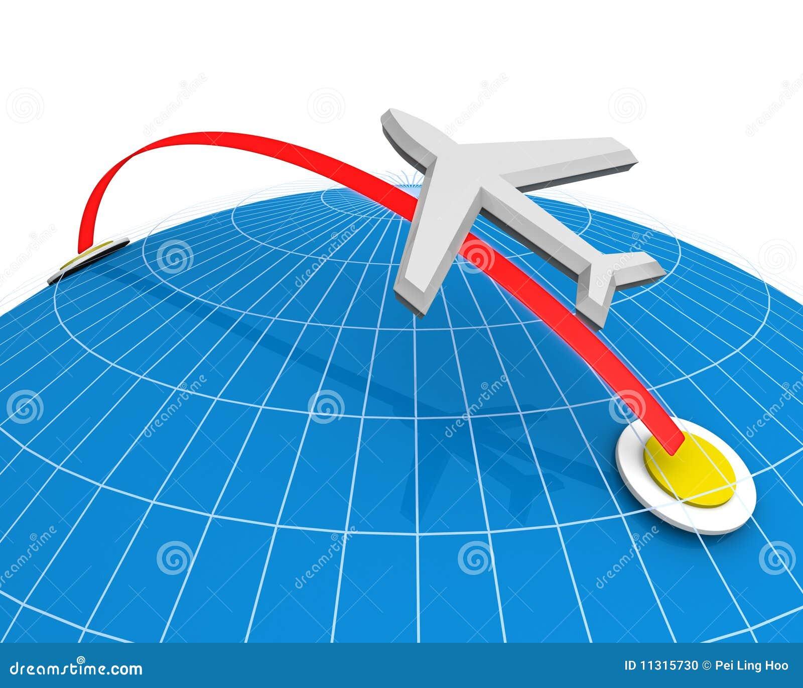 Fluglinien-Reisen-Konzept