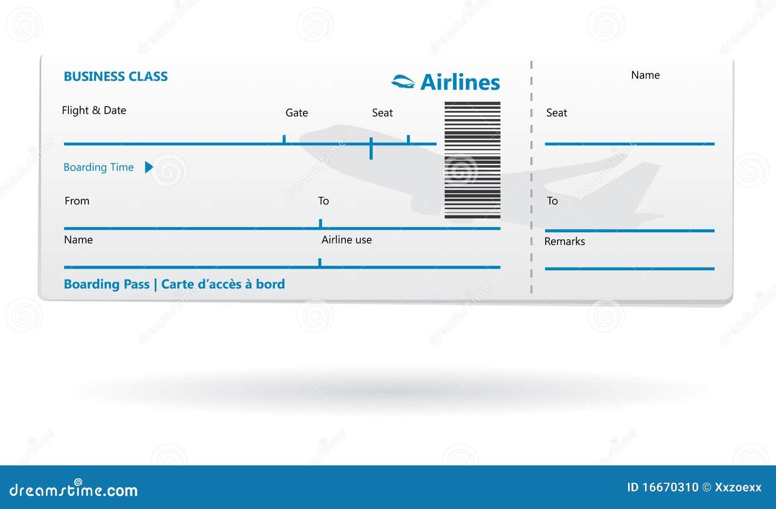 Fluglinieneinstiegdurchlaufleerzeichen Vektor Abbildung ...