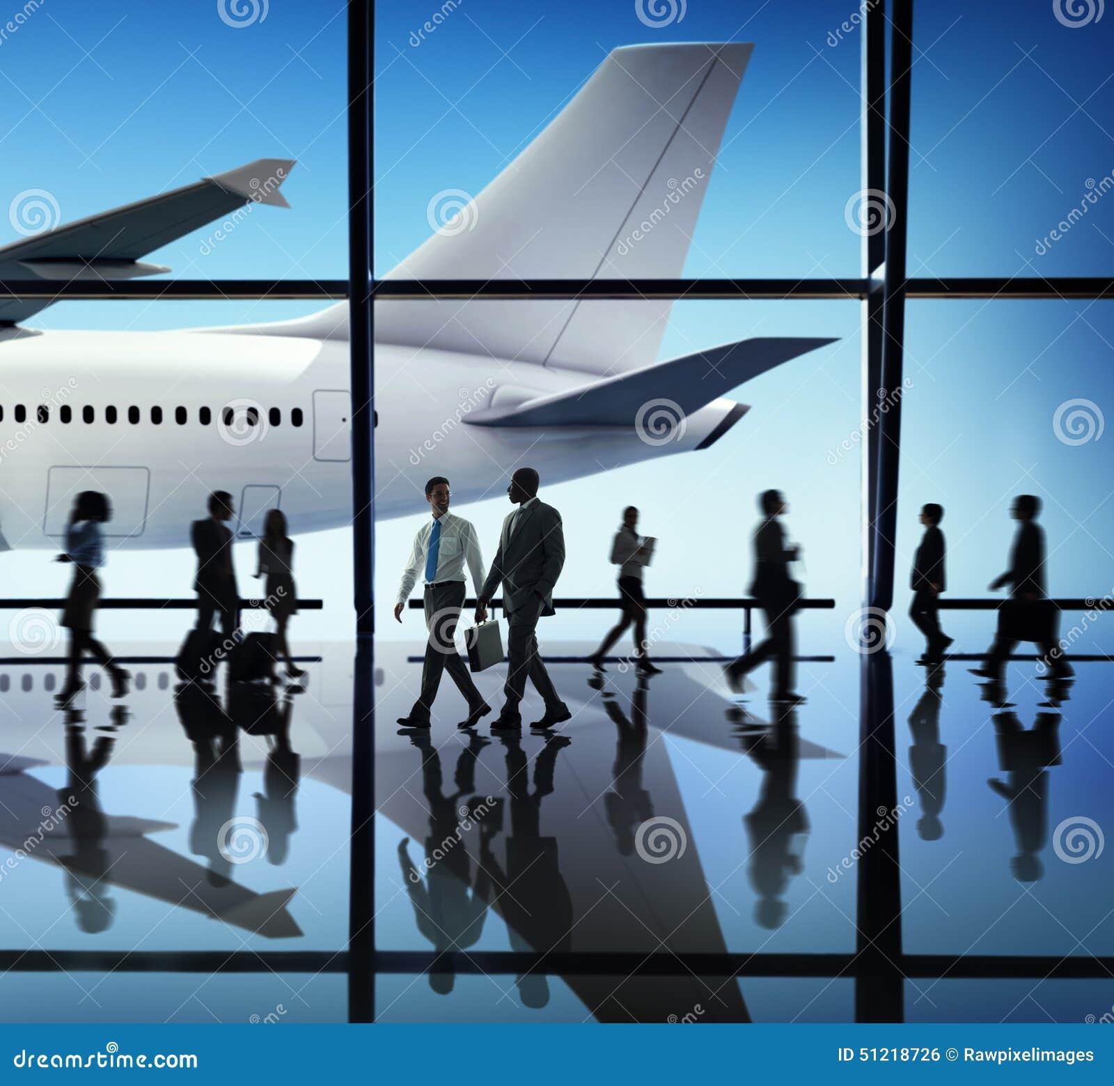 Flugzeug-Flugzeug-Flughafen-Dienstreise-Flug-Konzept