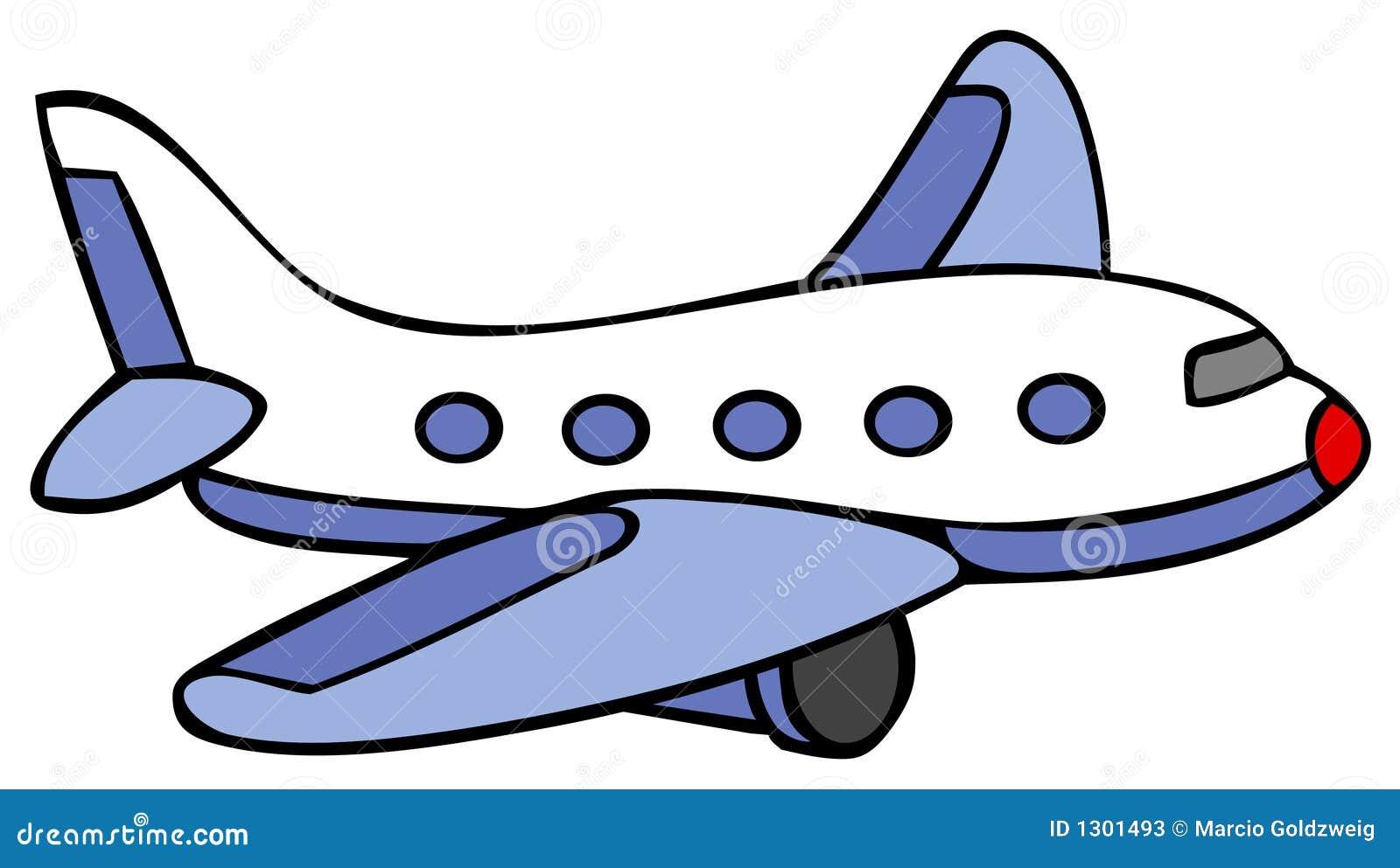 Flugzeug - Karikatur