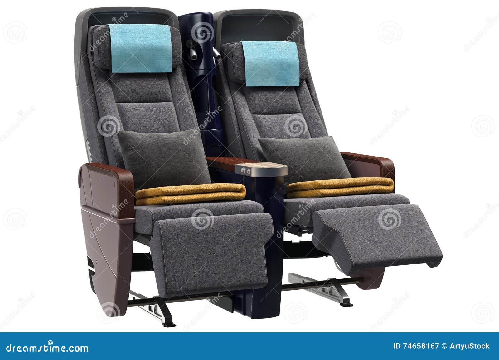flugzeug sitzt kissen vor stock abbildung bild 74658167. Black Bedroom Furniture Sets. Home Design Ideas