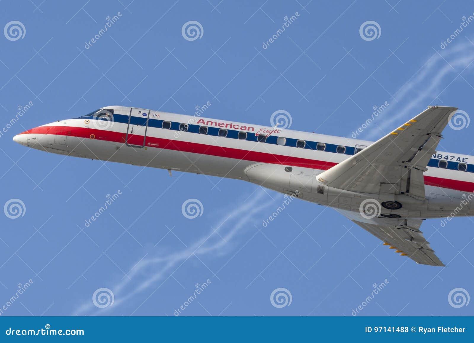 Flugzeuge Amerikaner-Eagle Airlines American Airlines Embraers ERJ-140