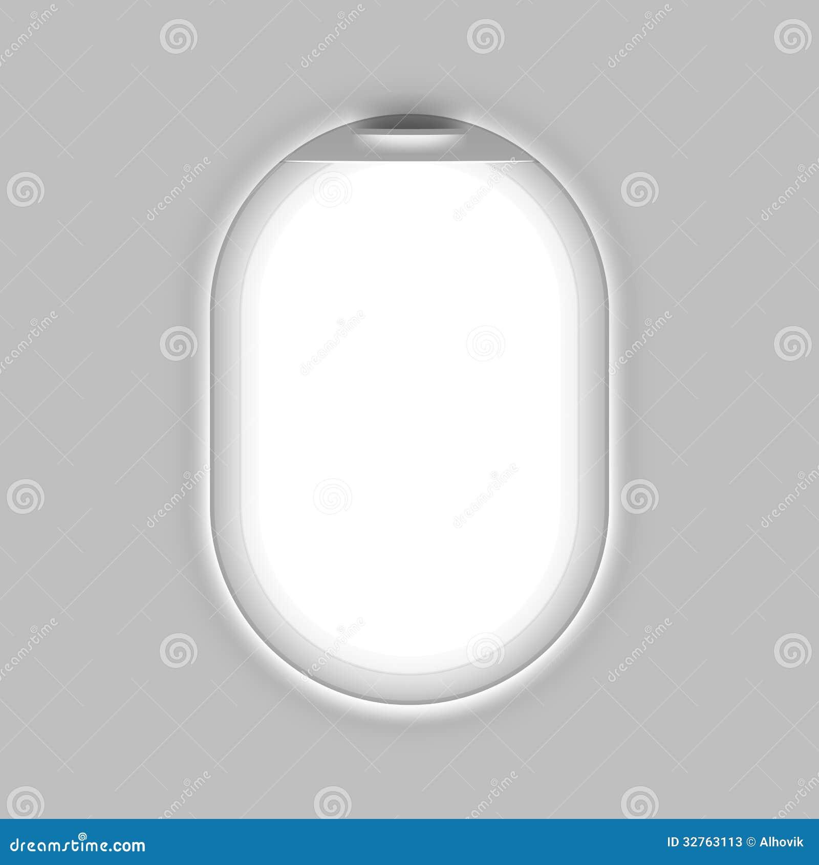Flugzeugfenster vektor abbildung. Illustration von kreis - 32763113