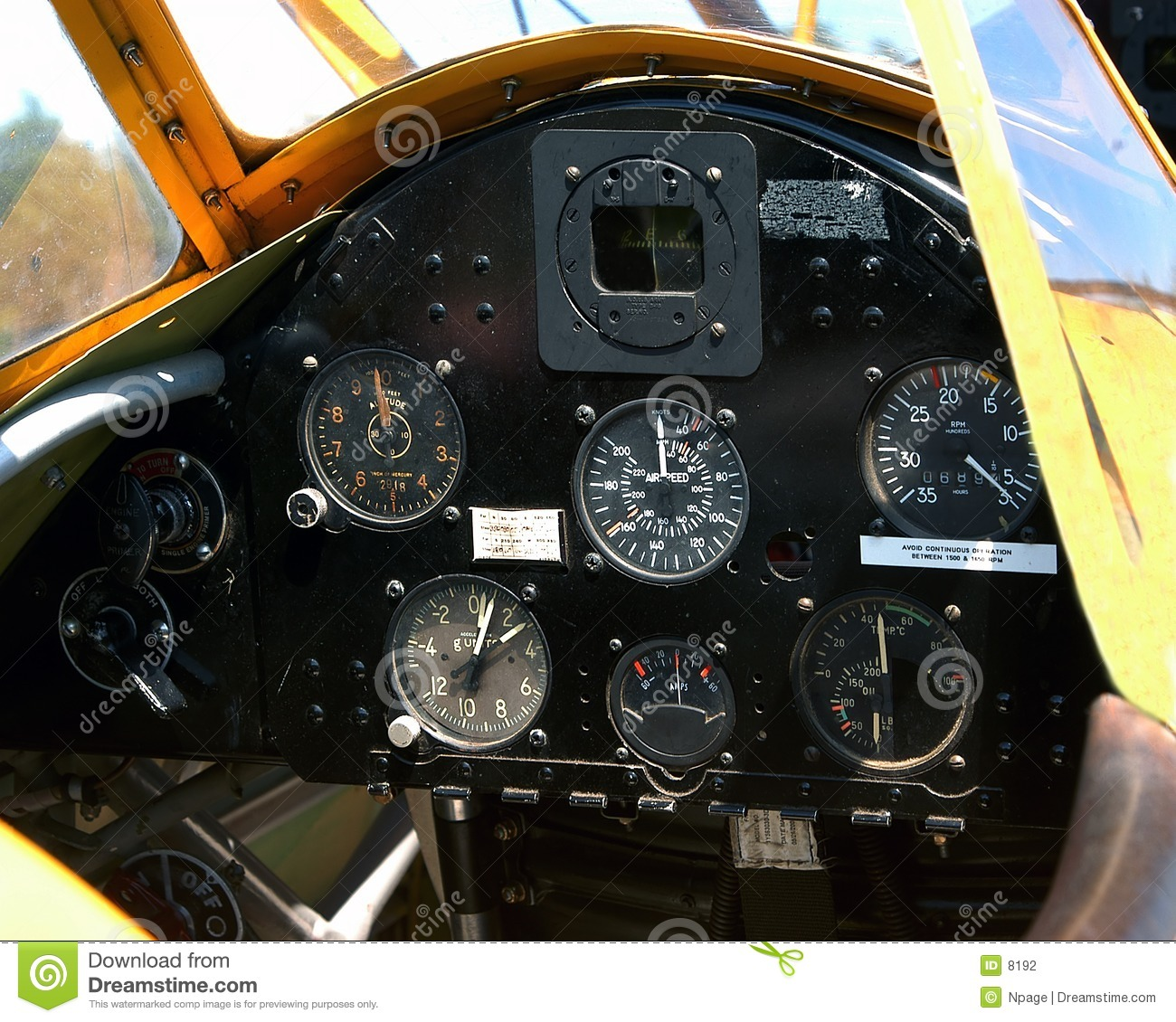 Flugzeuginstrument-Panel
