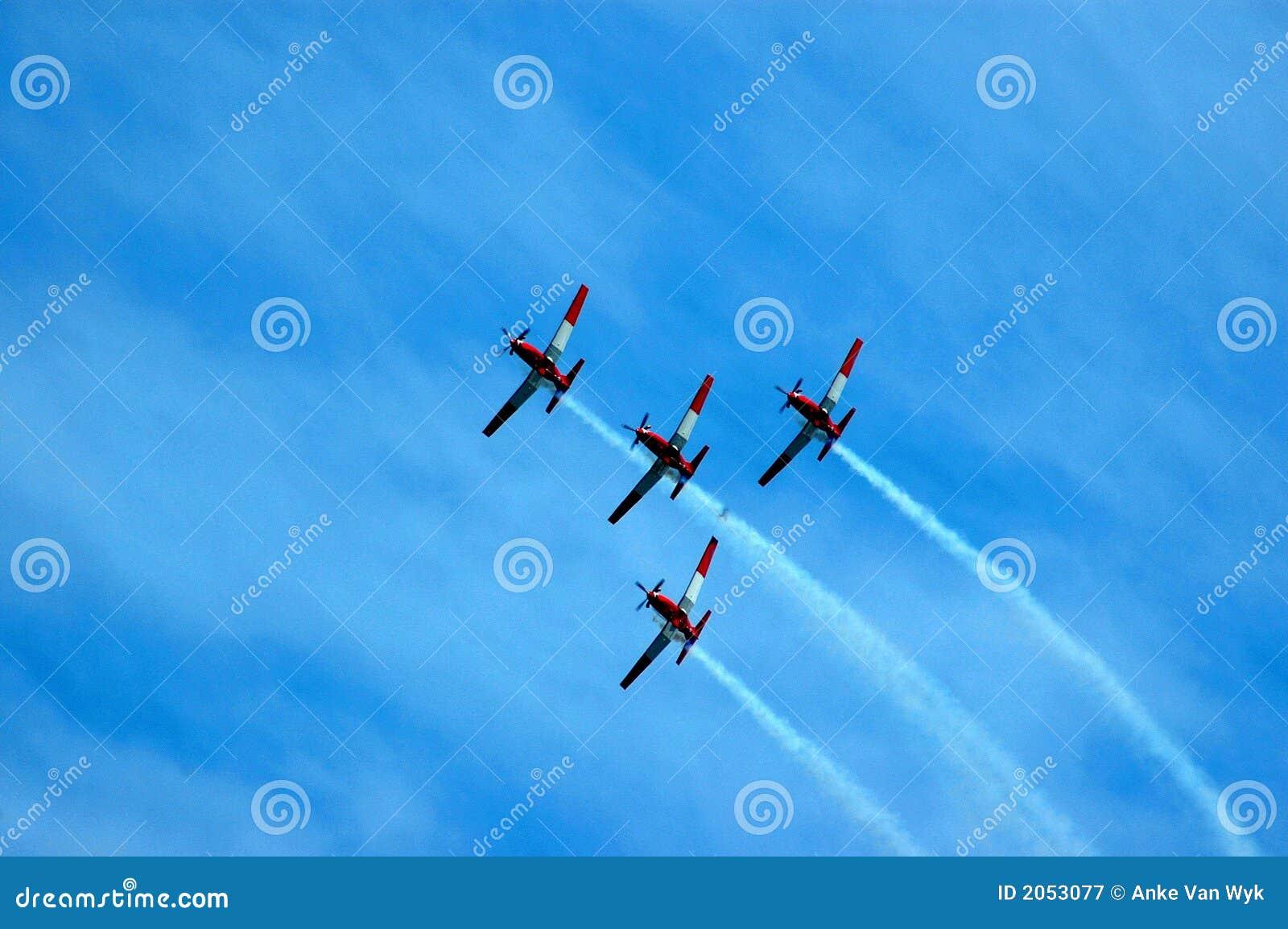 Flugzeugteamwork