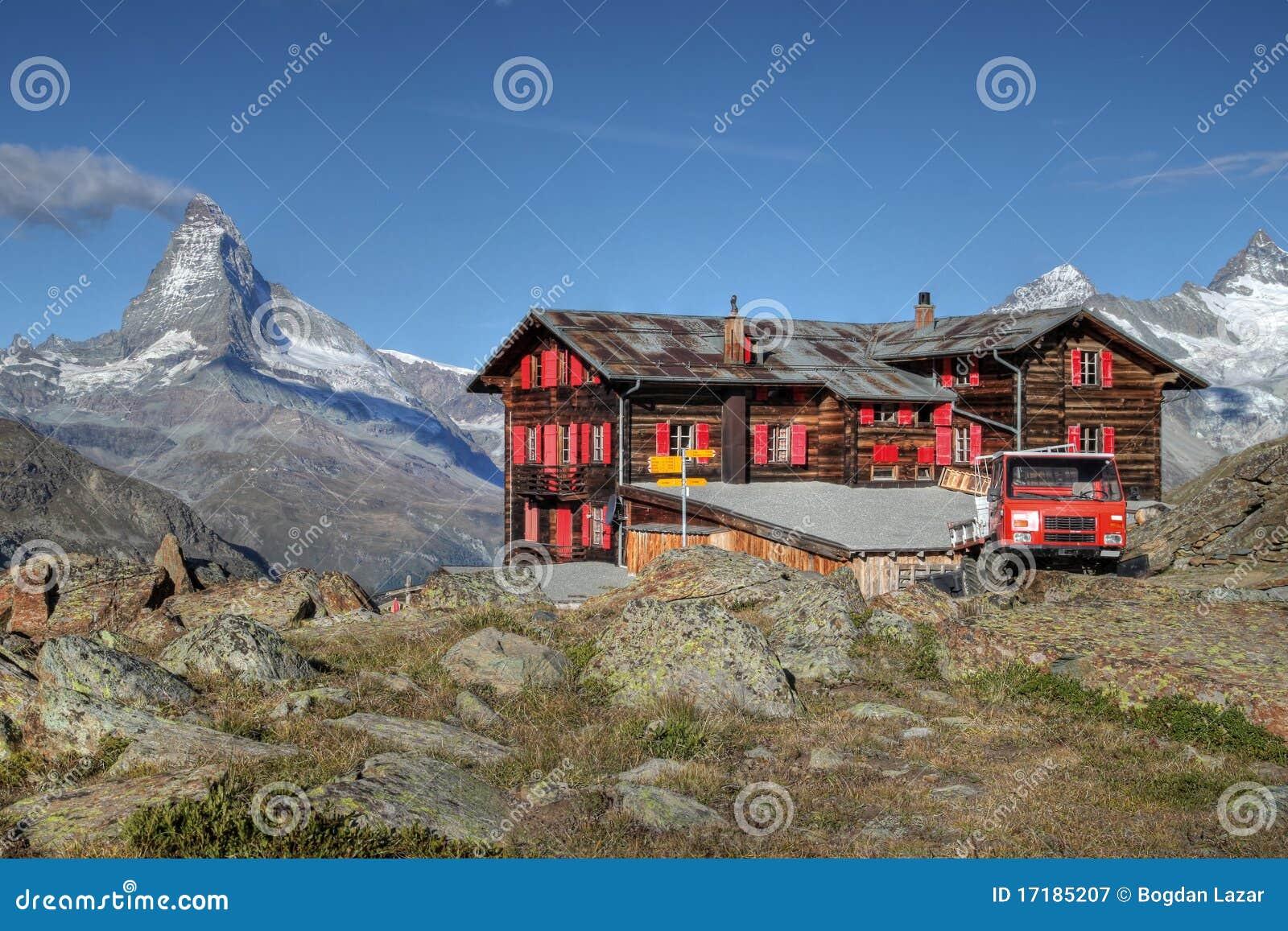Fluhalp mountain hut, Zermatt, Switzerland