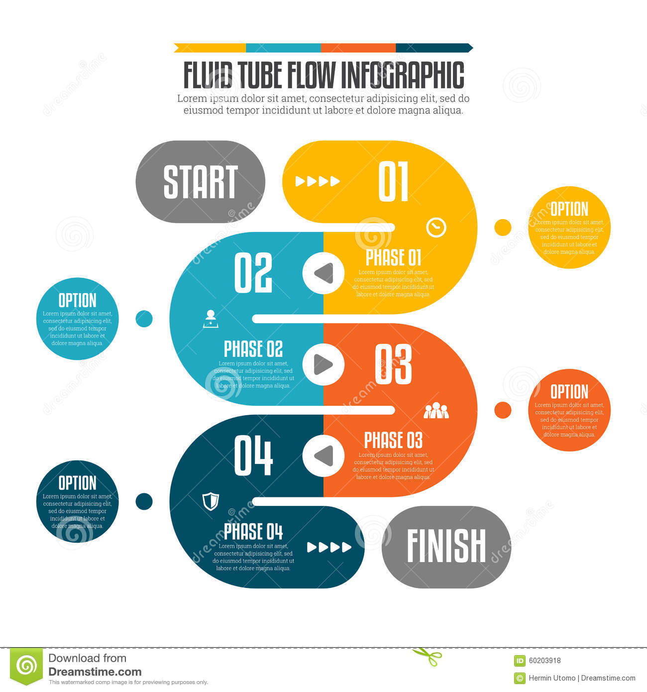 Fluid Tube Flow Infographic Stock Vector Illustration Of