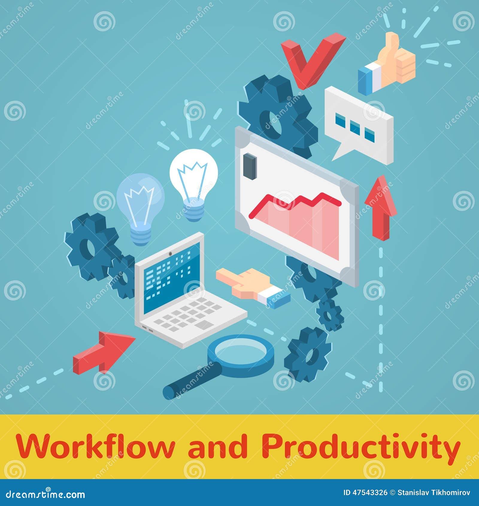 Flujo de trabajo del vector y sistema de la productividad