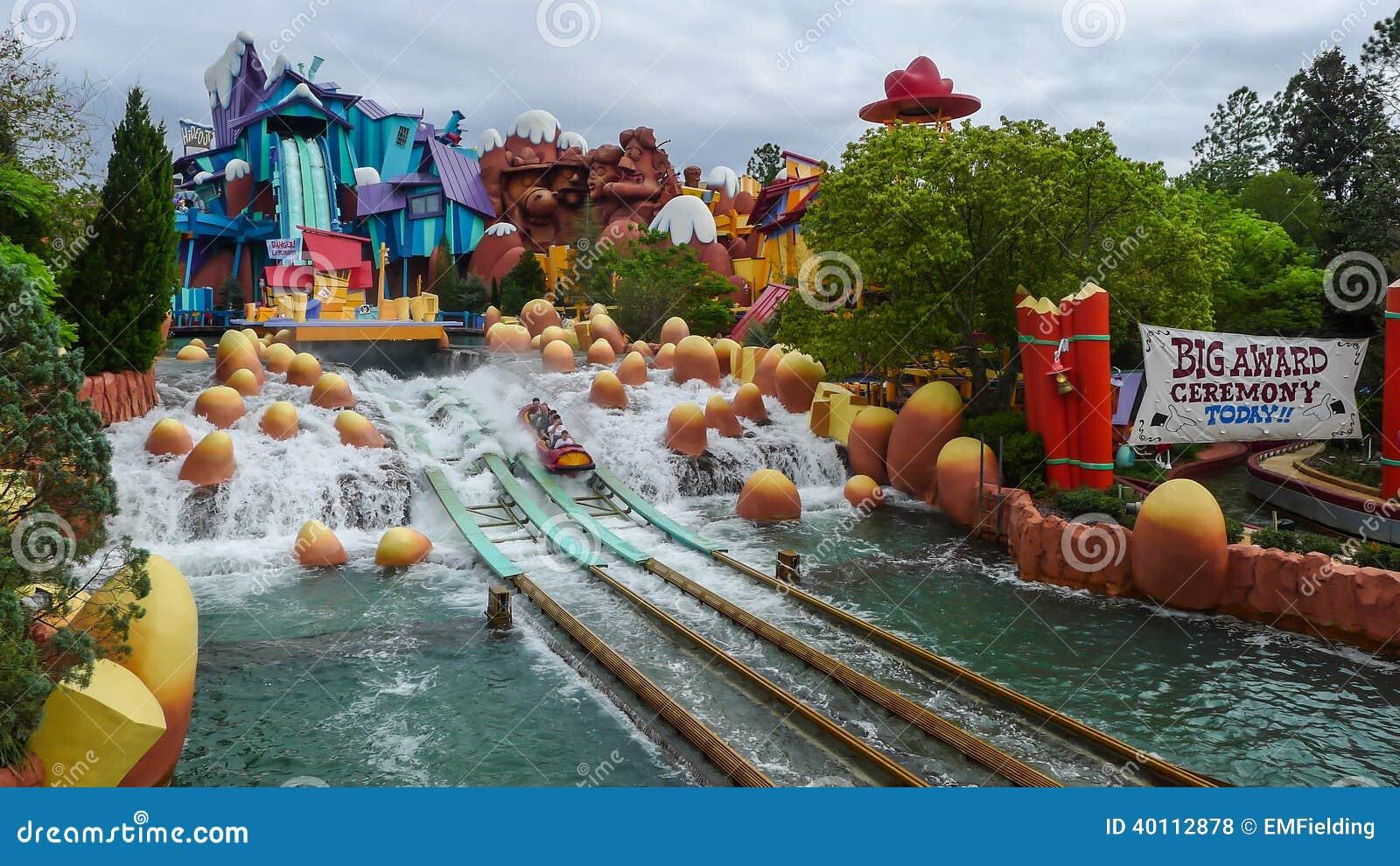 Flume Ride At Universal Studios Islands Of Adventure Editorial Stock Photo Image Of Park Amusement 40112878