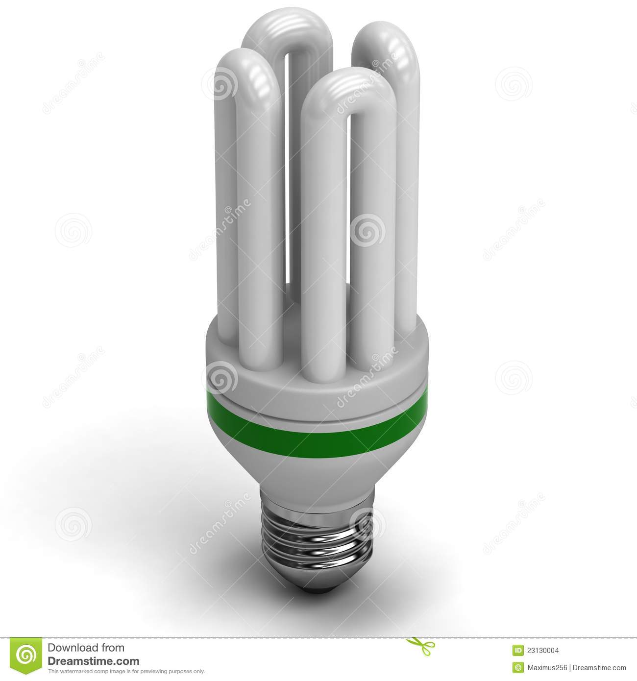 Fluorescent Energy Saving Light Bulb Stock Images Image 23130004