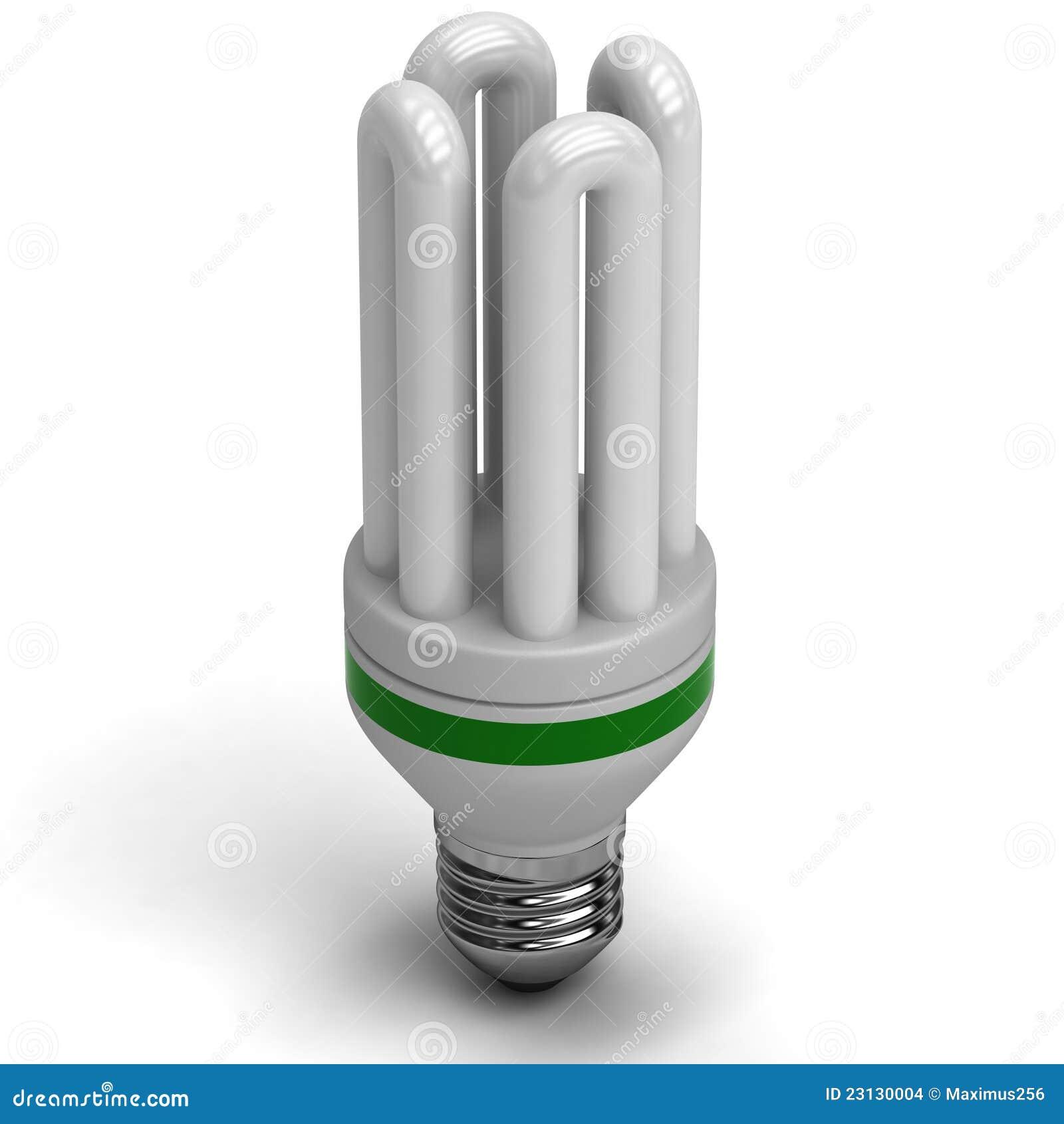 Fluorescent Energy Saving Light Bulb Stock Images Image 23130004