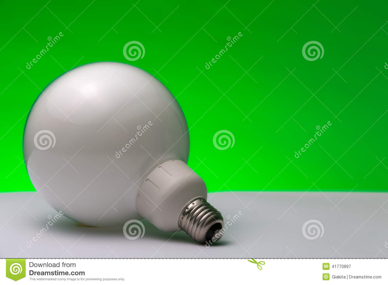 Fluorescent Lamp: Green Energy Stock Image - Image of energy, lamp