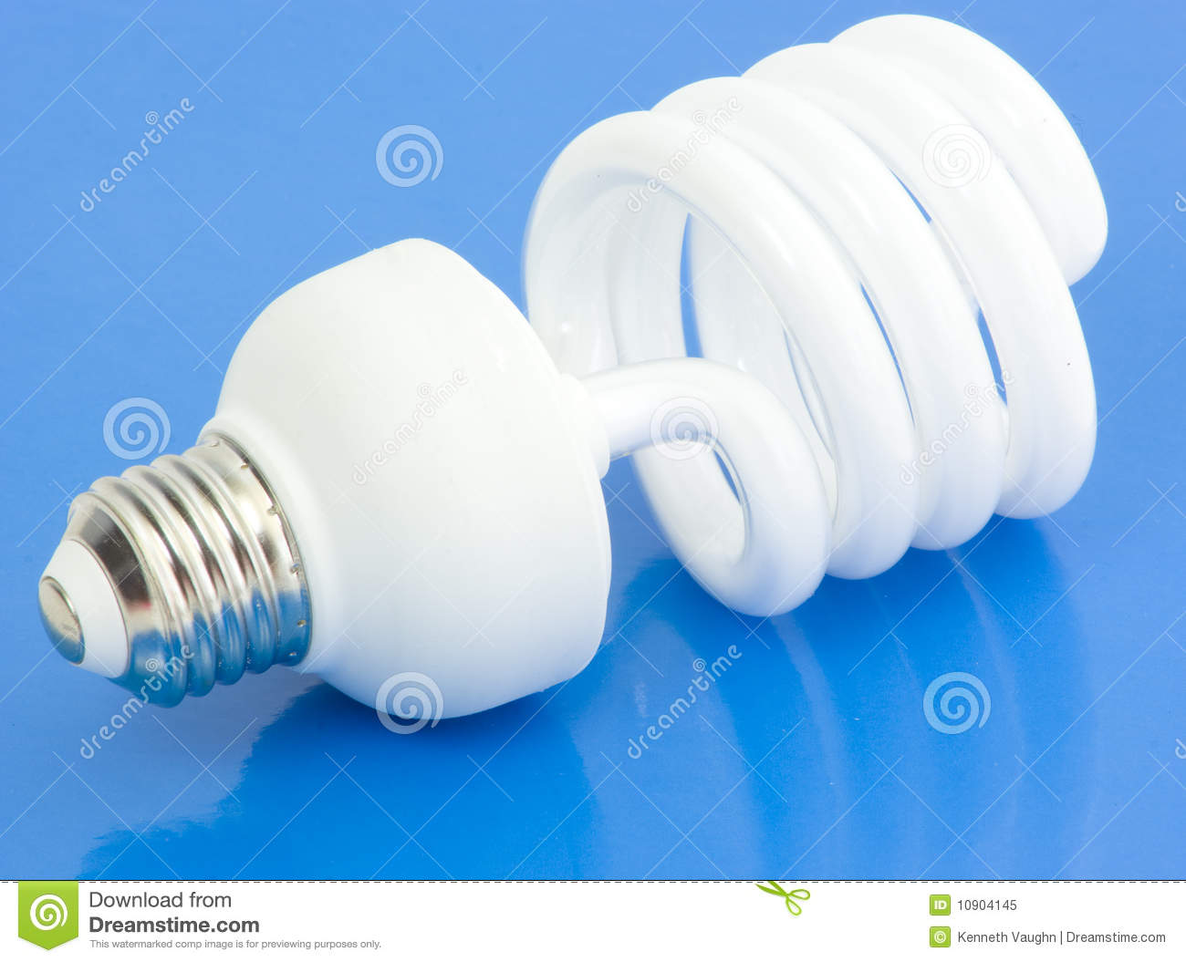 fluorescent light bulb on blue royalty free stock photo. Black Bedroom Furniture Sets. Home Design Ideas