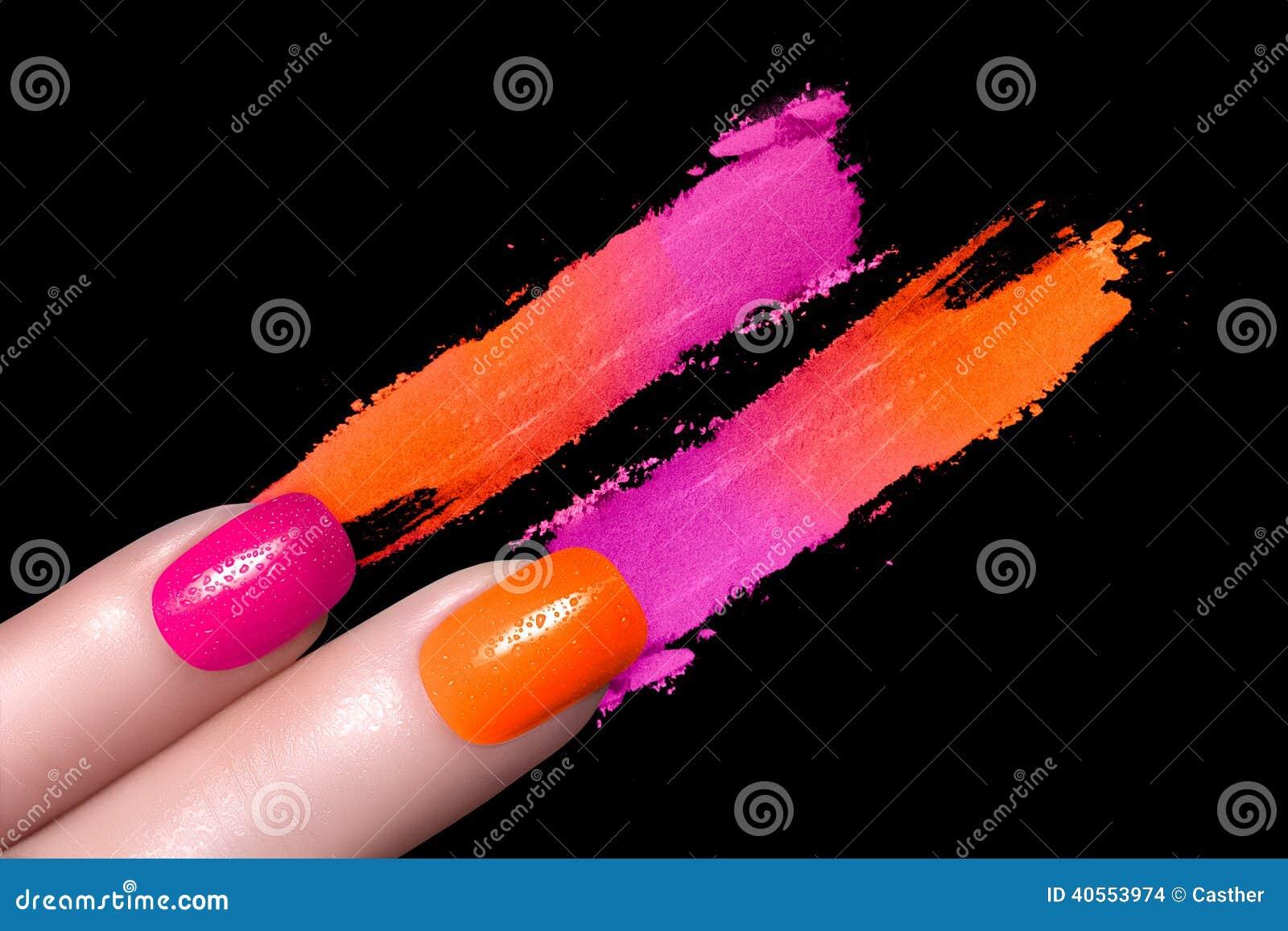 Fluornagellak en Minerale Kleurrijke Oogschaduw