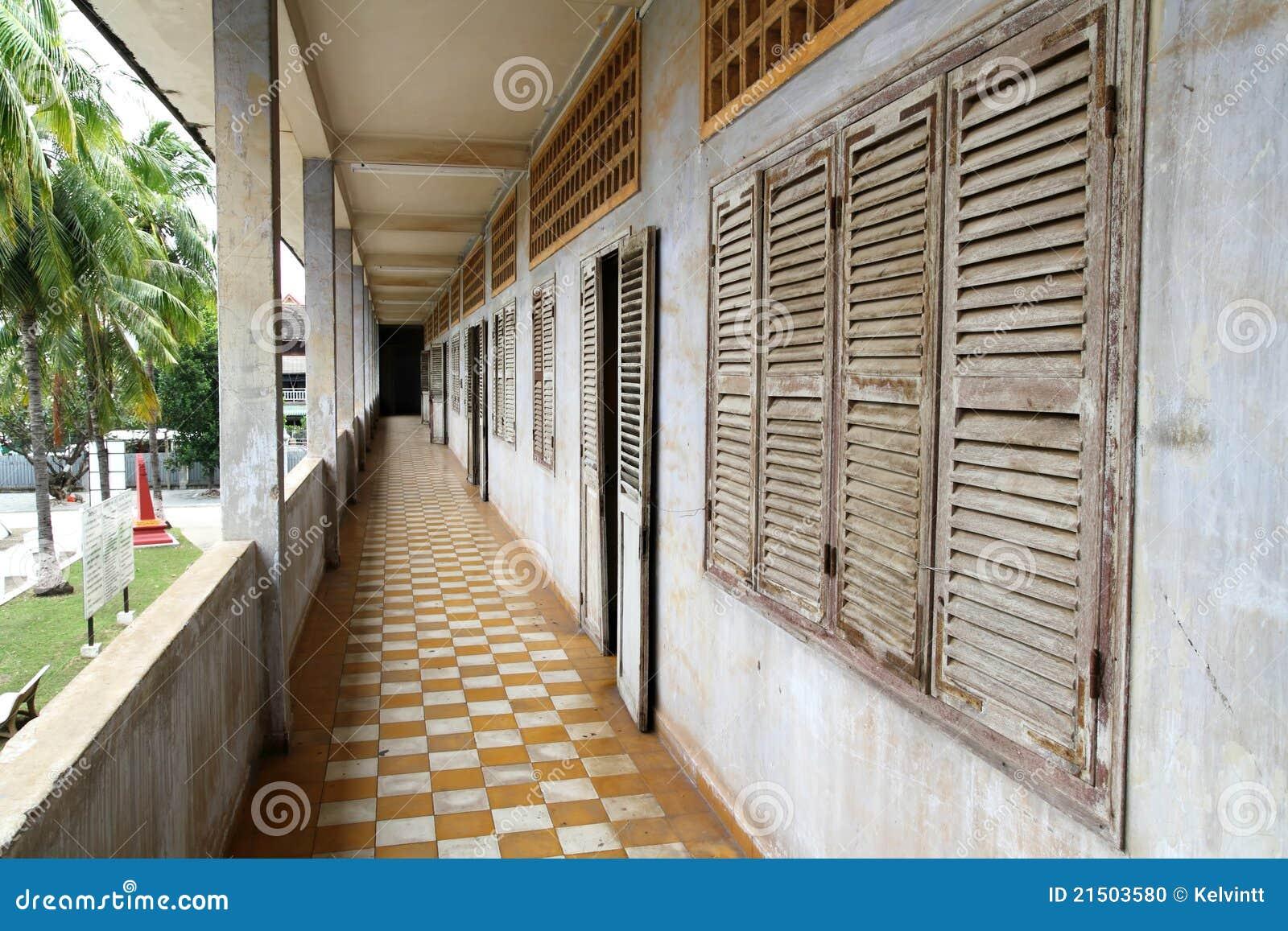 Flur Tuol Sleng am Genozid-Museum