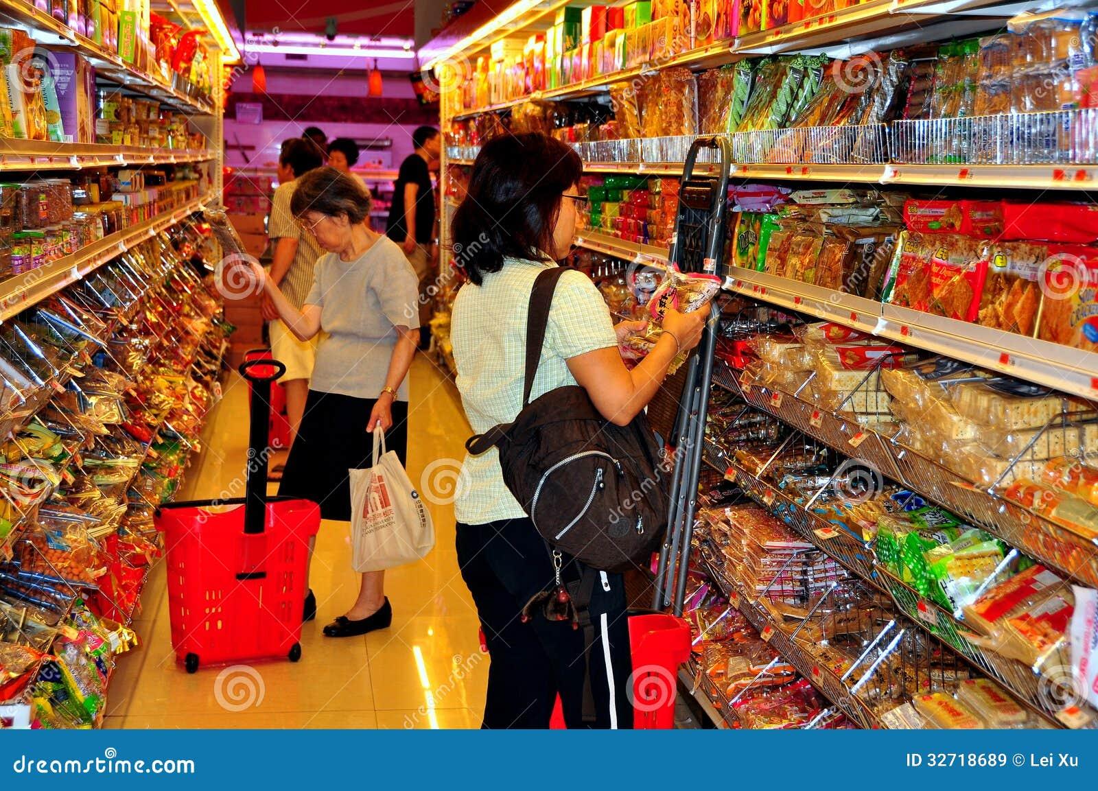 flushing  ny  people shopping at supermarket editorial