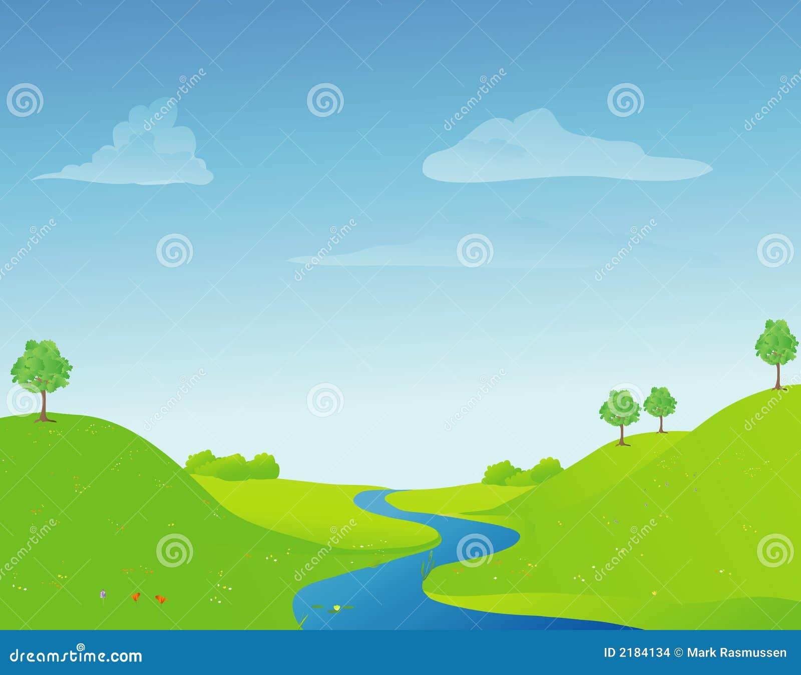 Fluss im Frühjahr