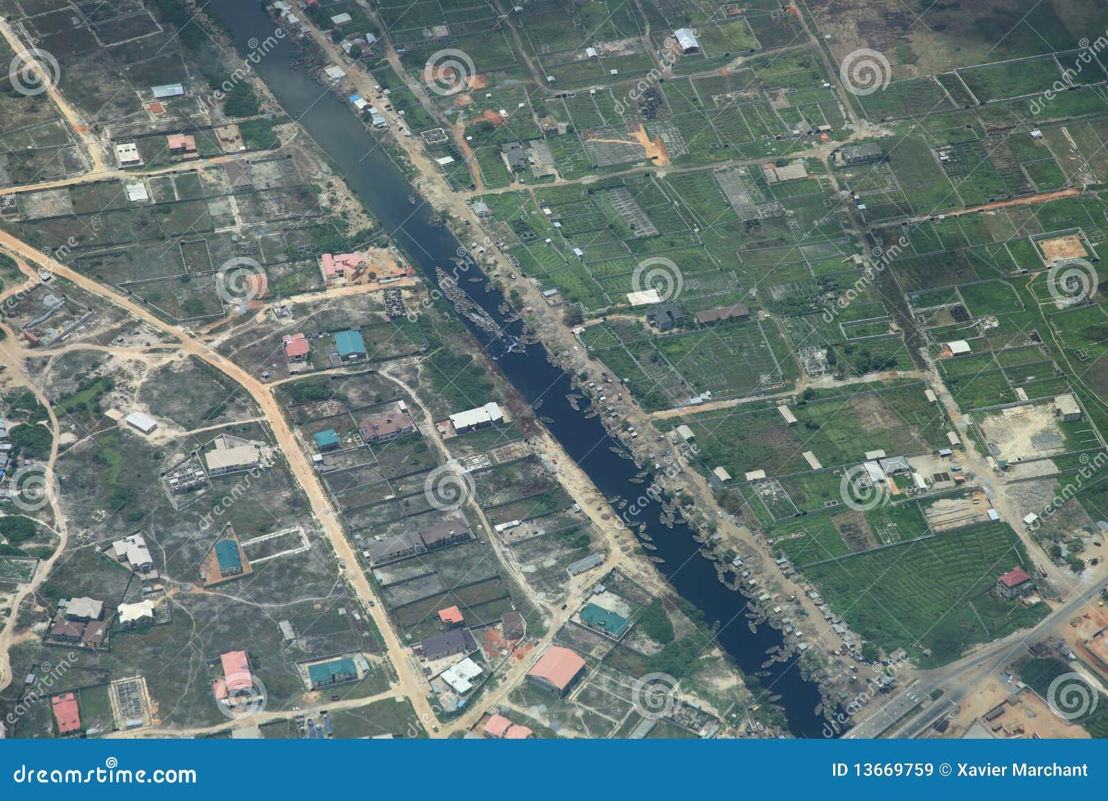Fluss in Lagos Nigeria