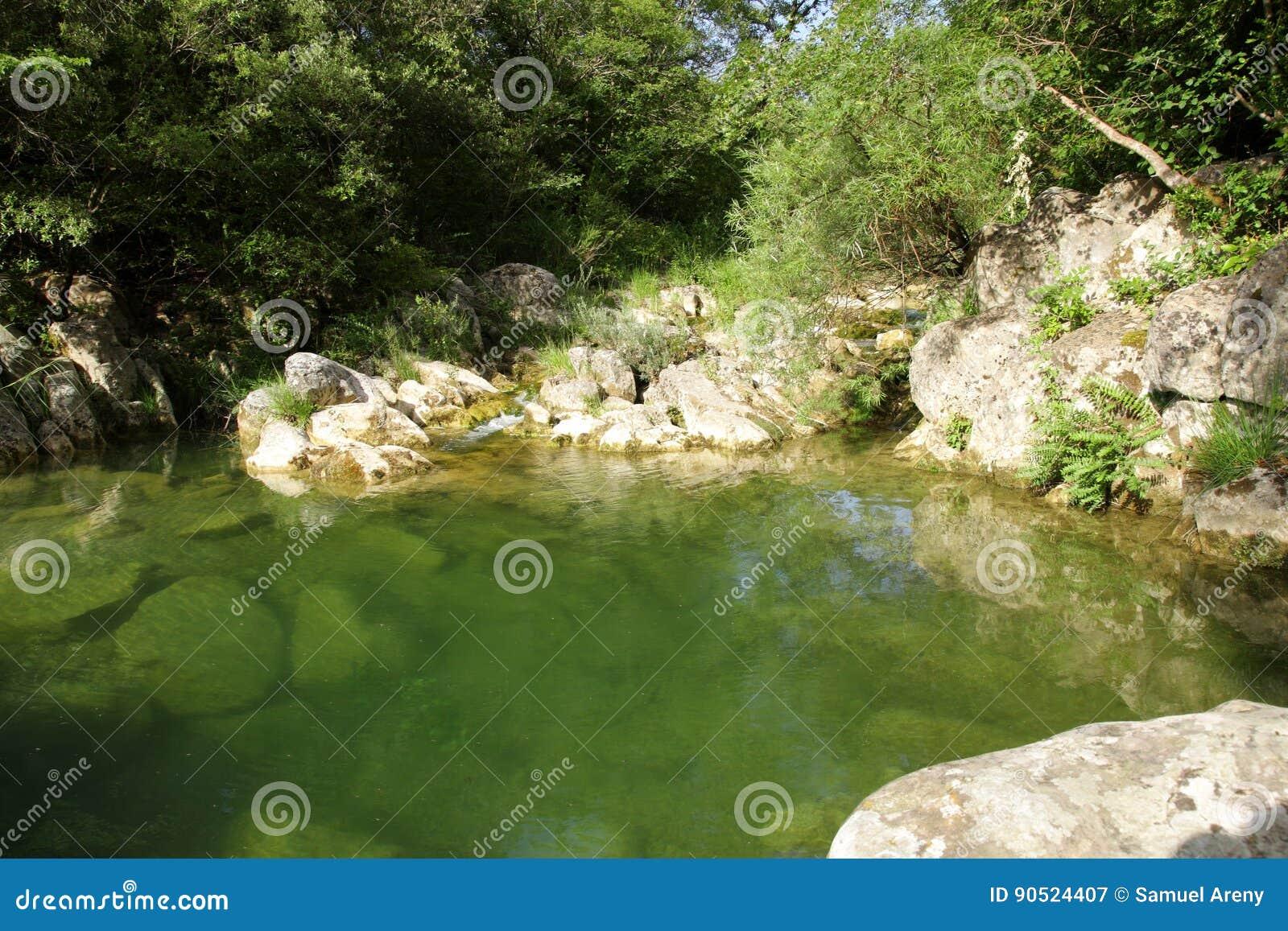 Fluss lauquet in Corbieres, Frankreich