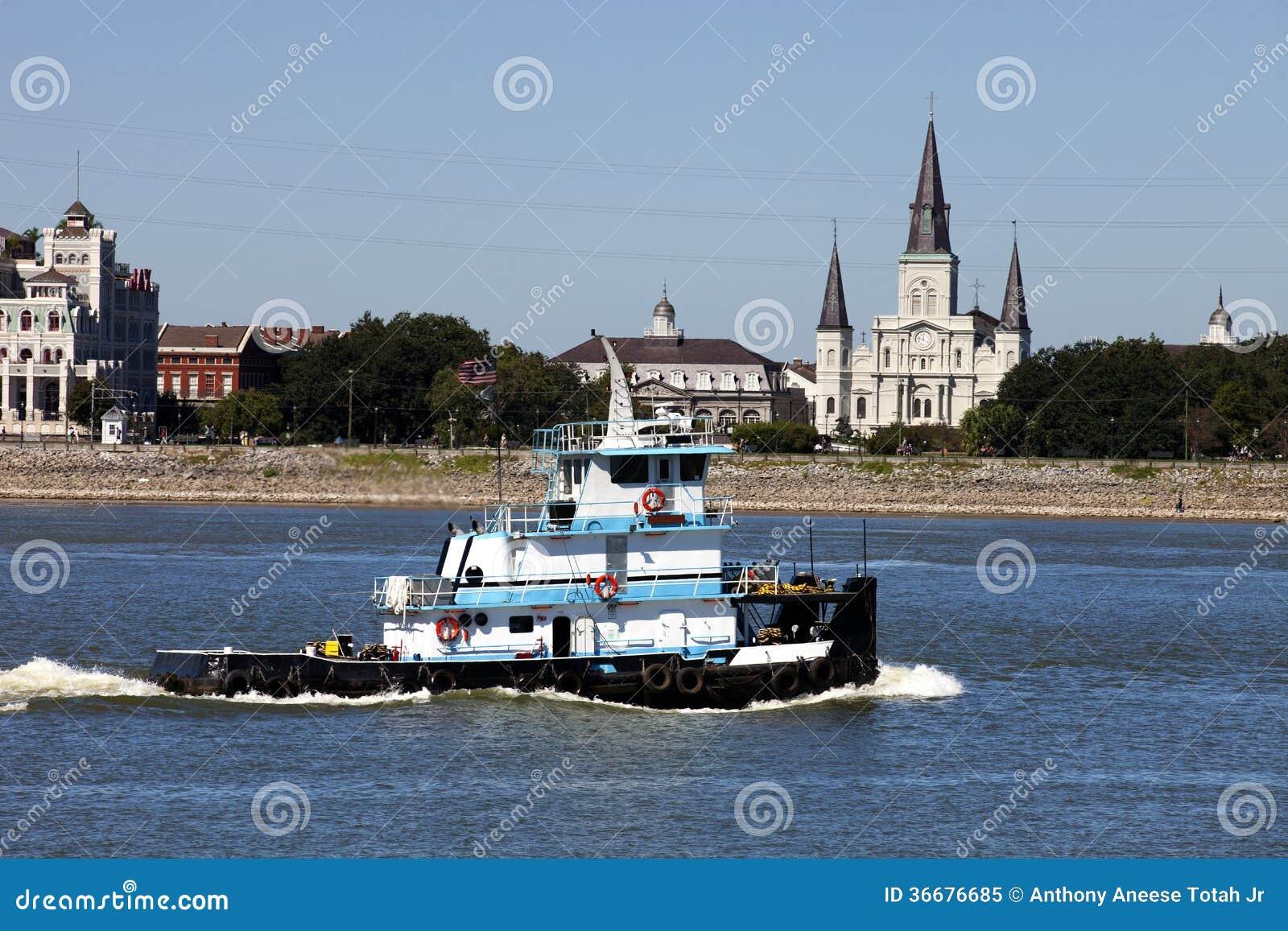 Fluss Mississipi In New Orleans Louisiana Stockbild Bild Von