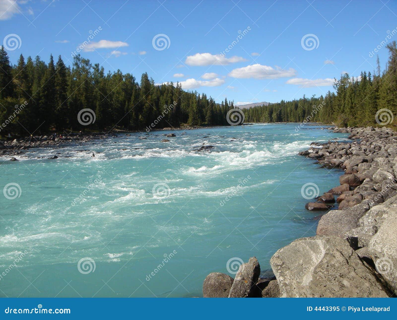 Fluss in Mongolei