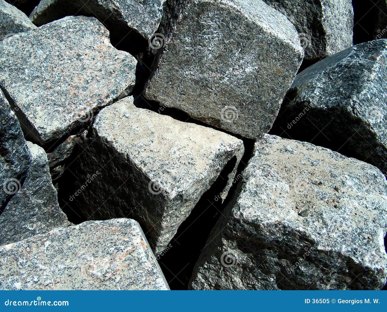 Download Fluss-Steine stockbild. Bild von aufbau, scharf, ränder - 36505
