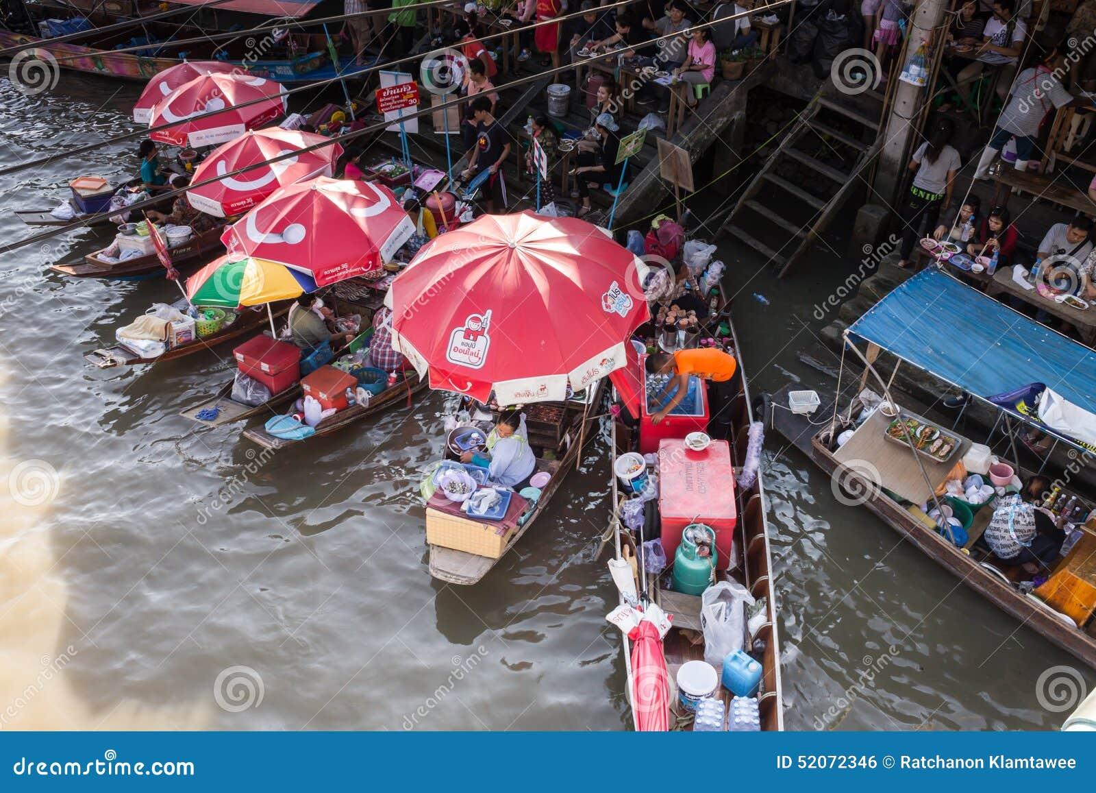 Flussmarkt in Thailand