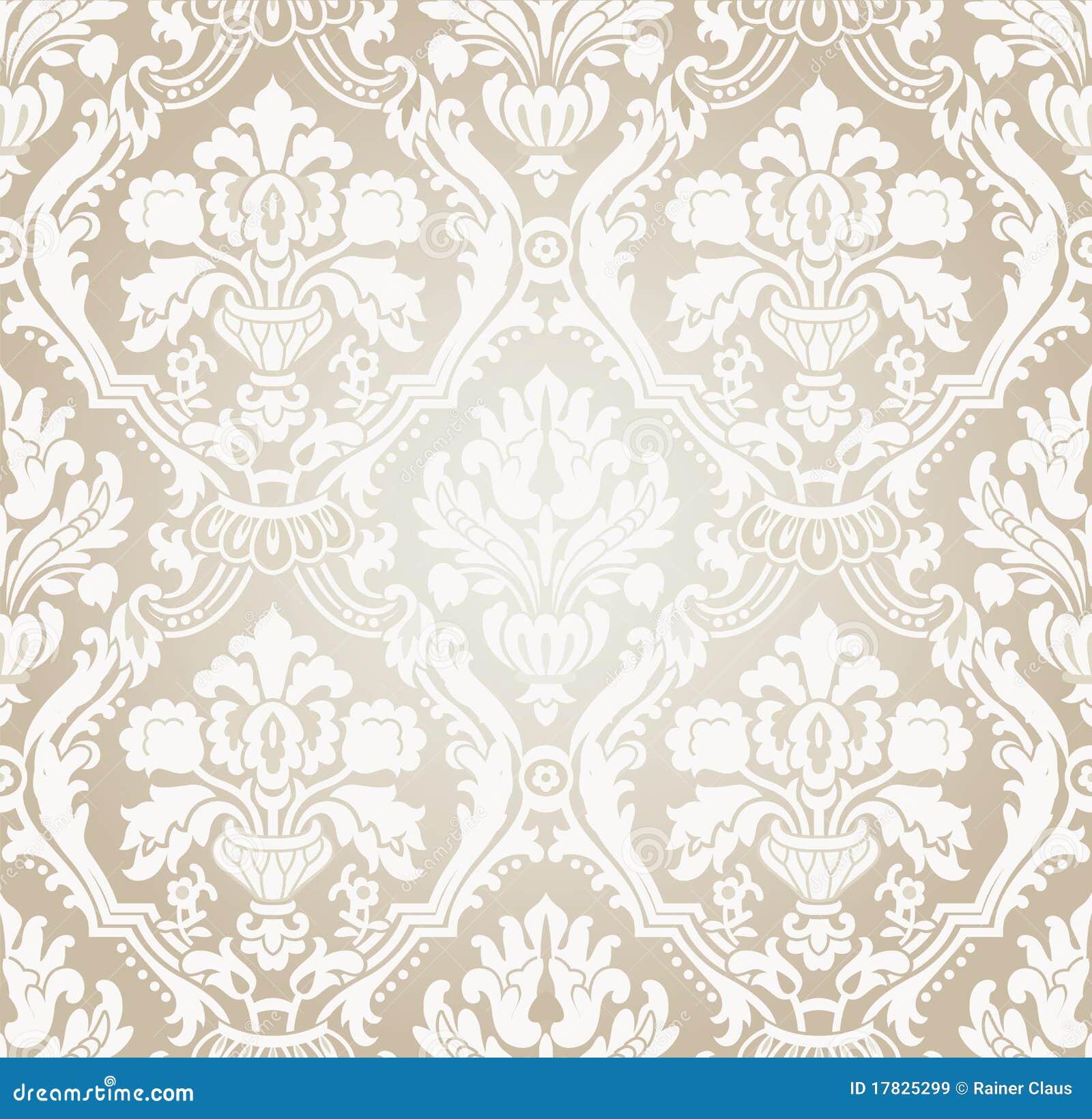 Flusso beige grigio della carta da parati illustrazione for Carta da parati di lusso