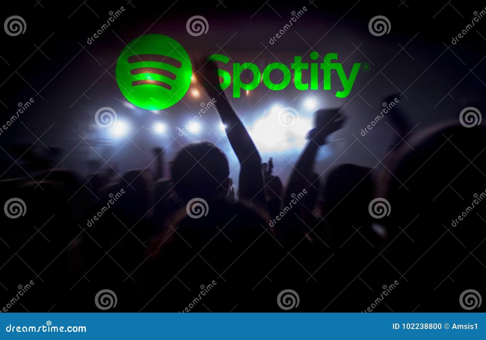 Flusso continuo di concerto di musica in diretta di Spotify