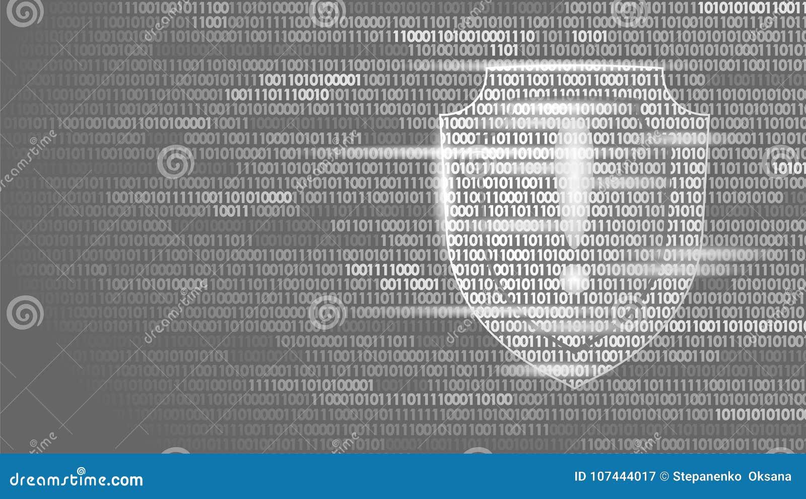 Flusso Di Codice Binario Del Sistema Di Sicurezza Della ...