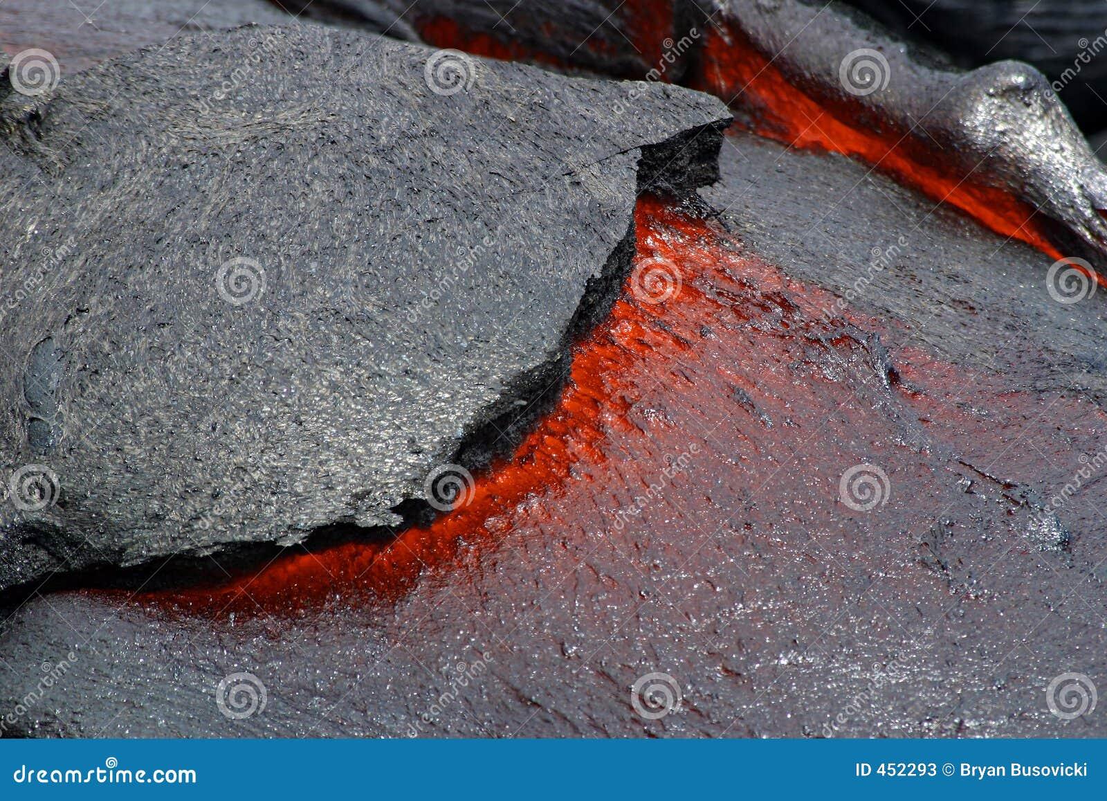 Flusso di lava - sosta nazionale dei vulcani dell Hawai