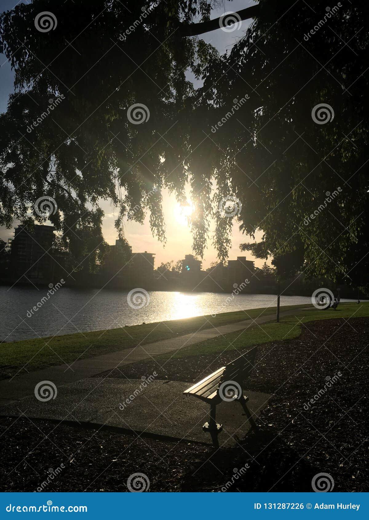 Flussufer in Brisbane, Australien