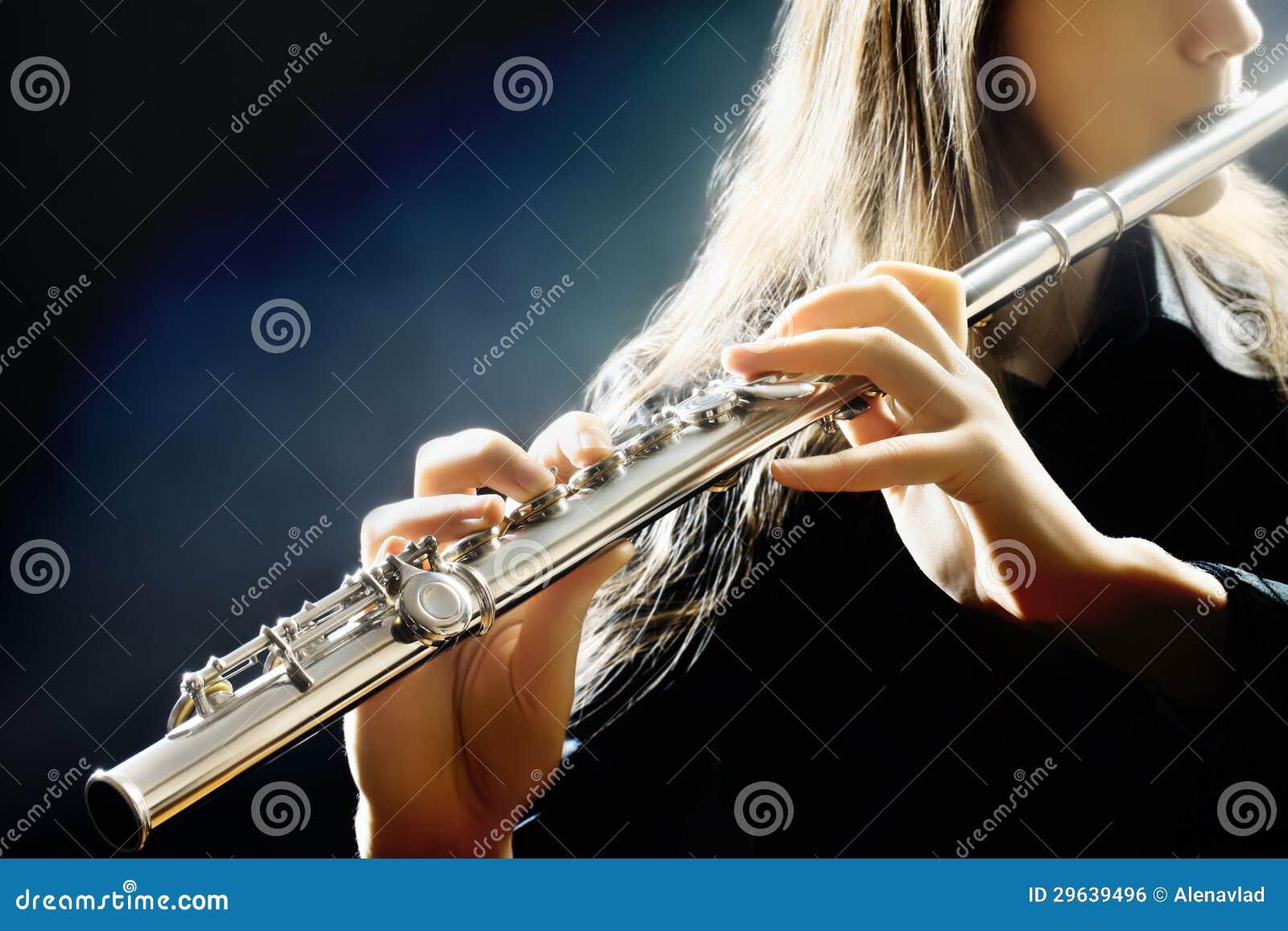 Flute music instrument player