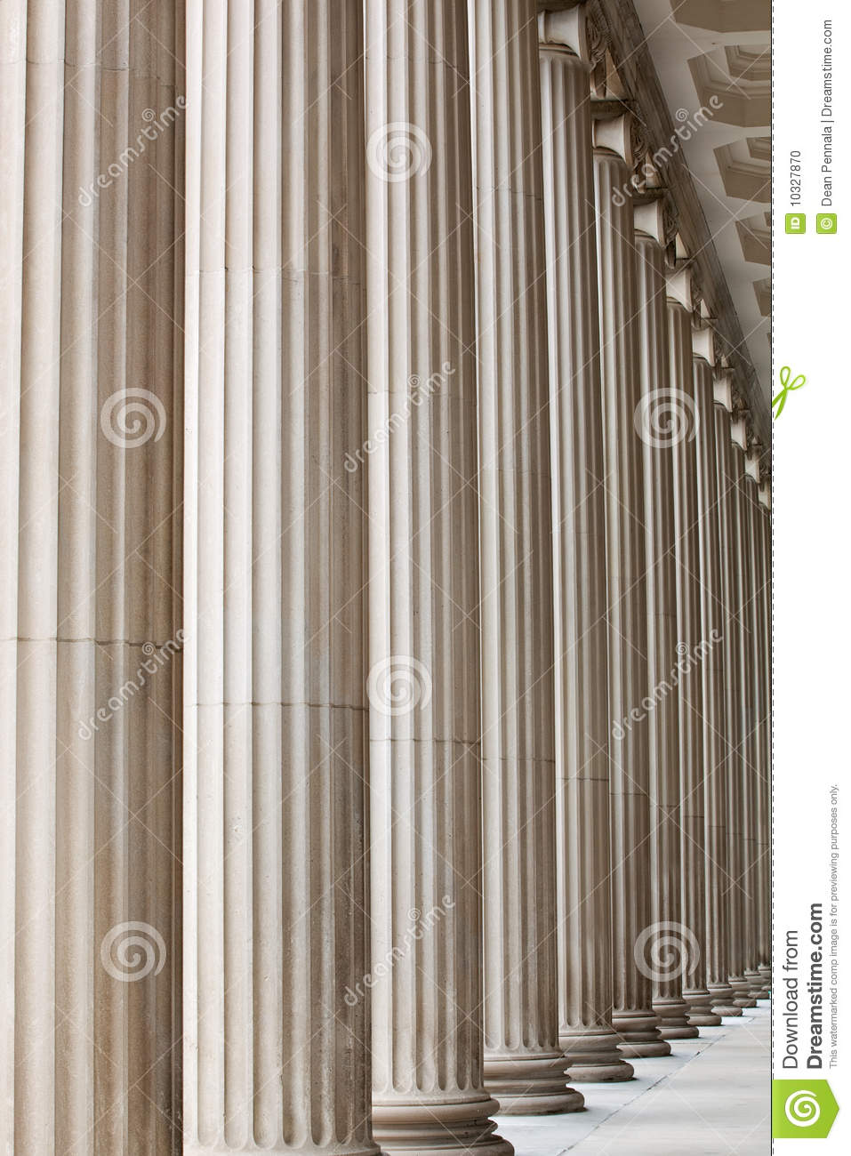Fluted Stone Columns Stock Photo Image Of Banking
