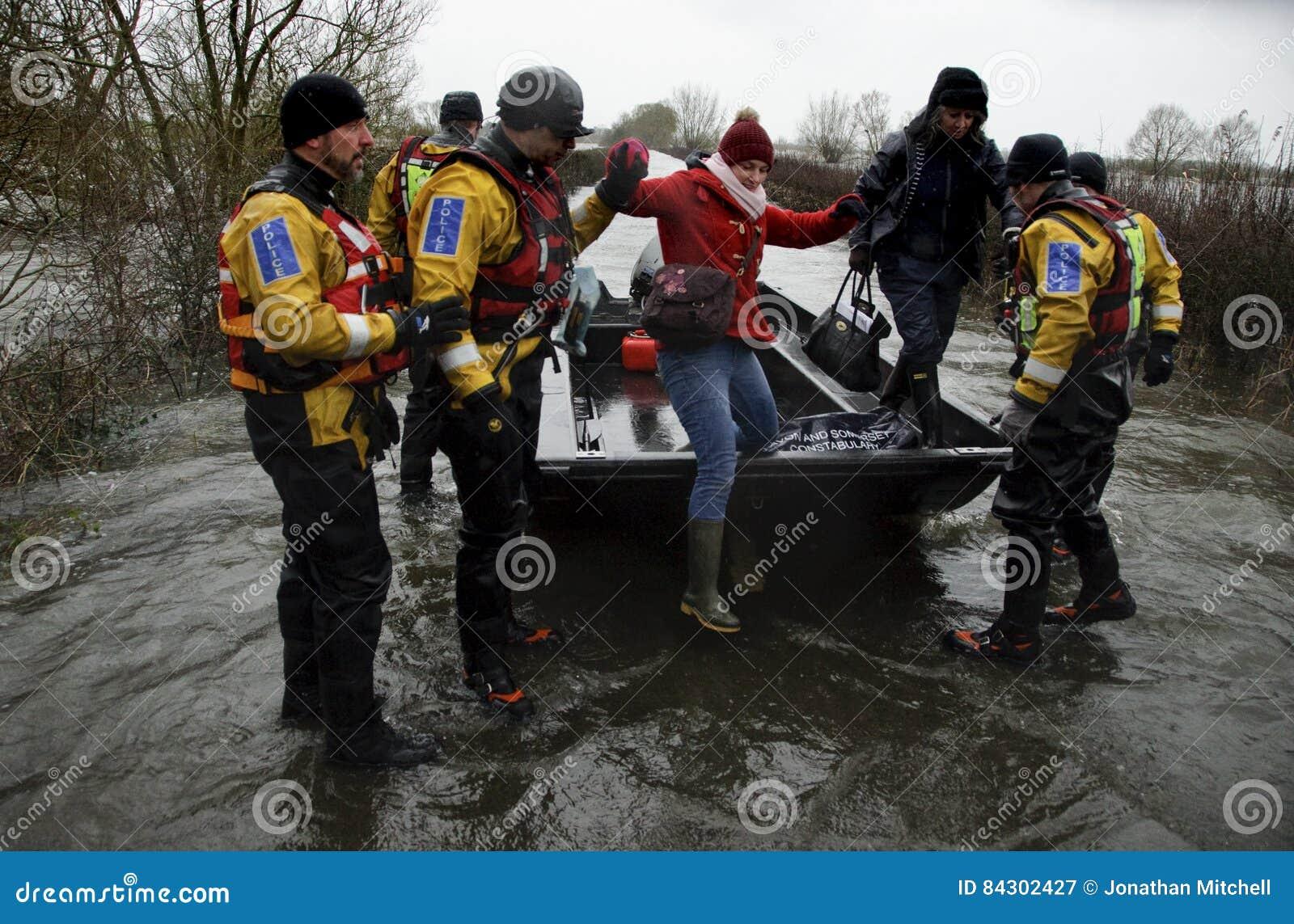 Fluten Muchelney Somerset Levels England Großbritannien 2014
