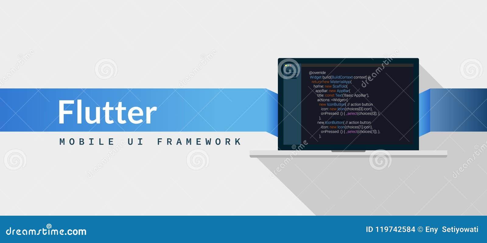Flutter UI Framework Dart Programming Language With Script
