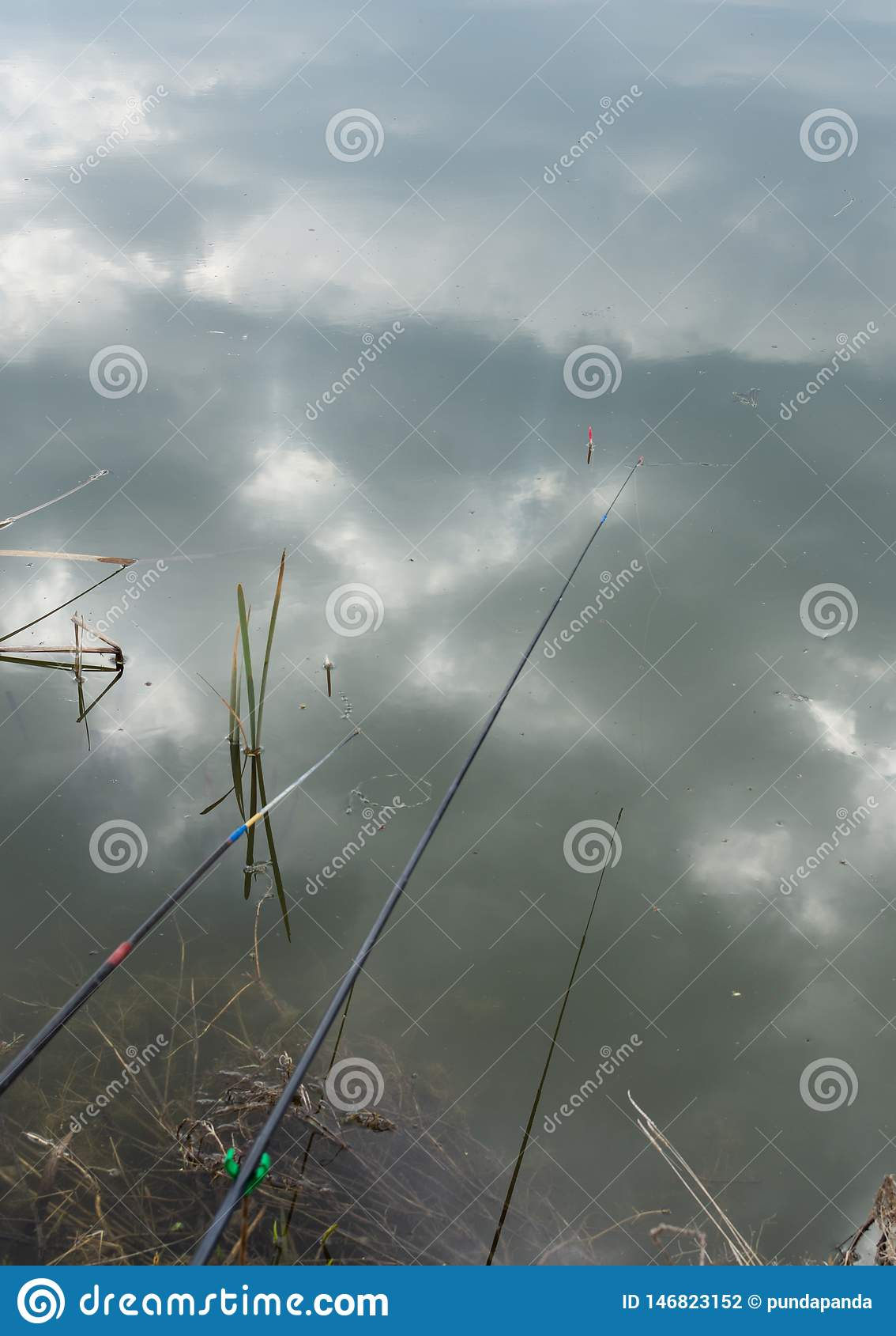 Flutuador da vara de pesca na ?gua