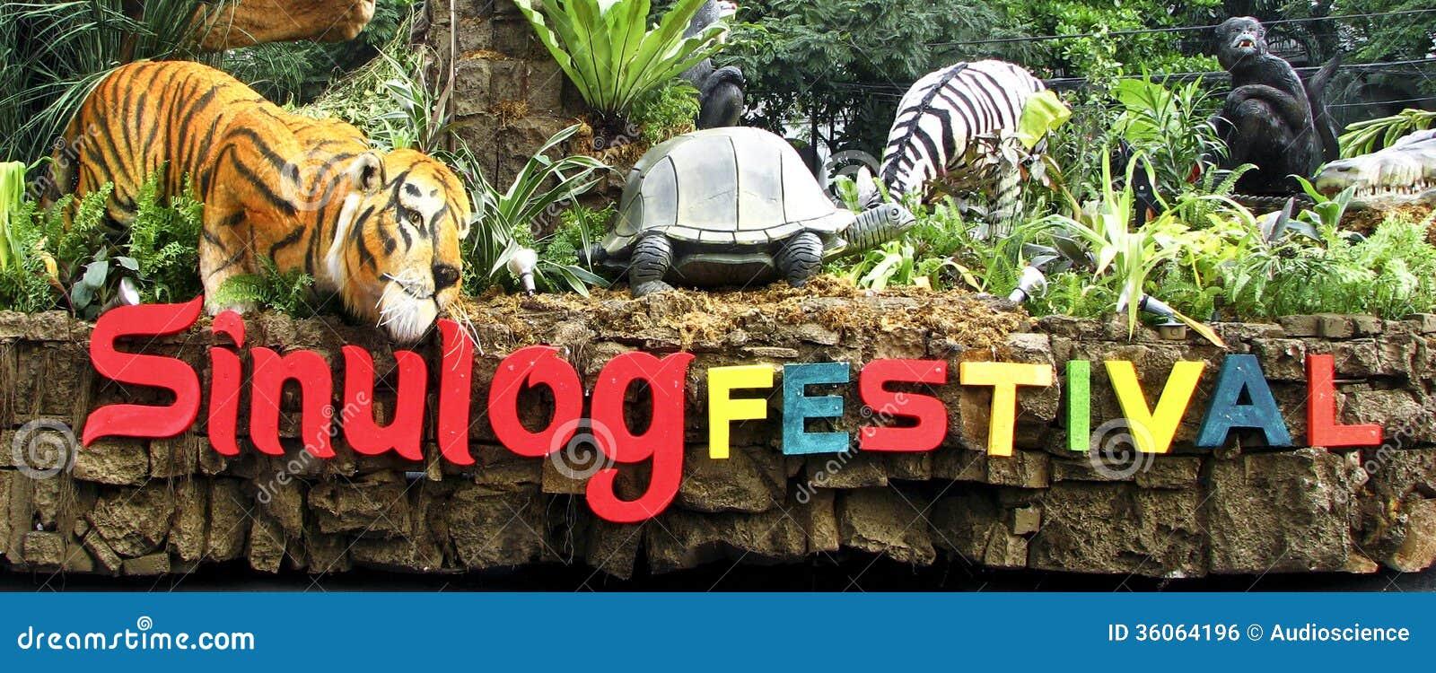 Flutuador Filipinas do festival de Cebu Sinulog