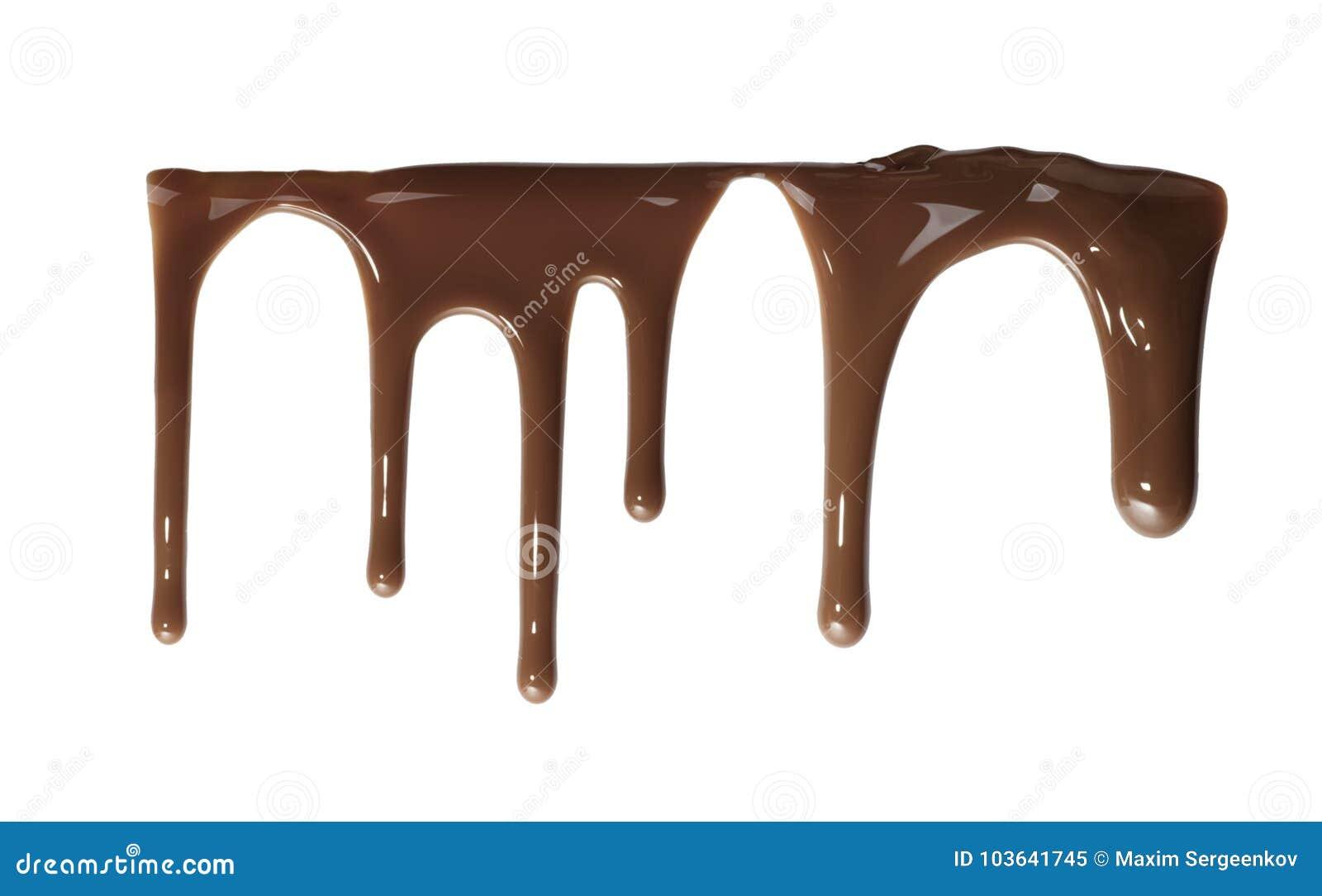 Fluxo abaixo do chocolate líquido