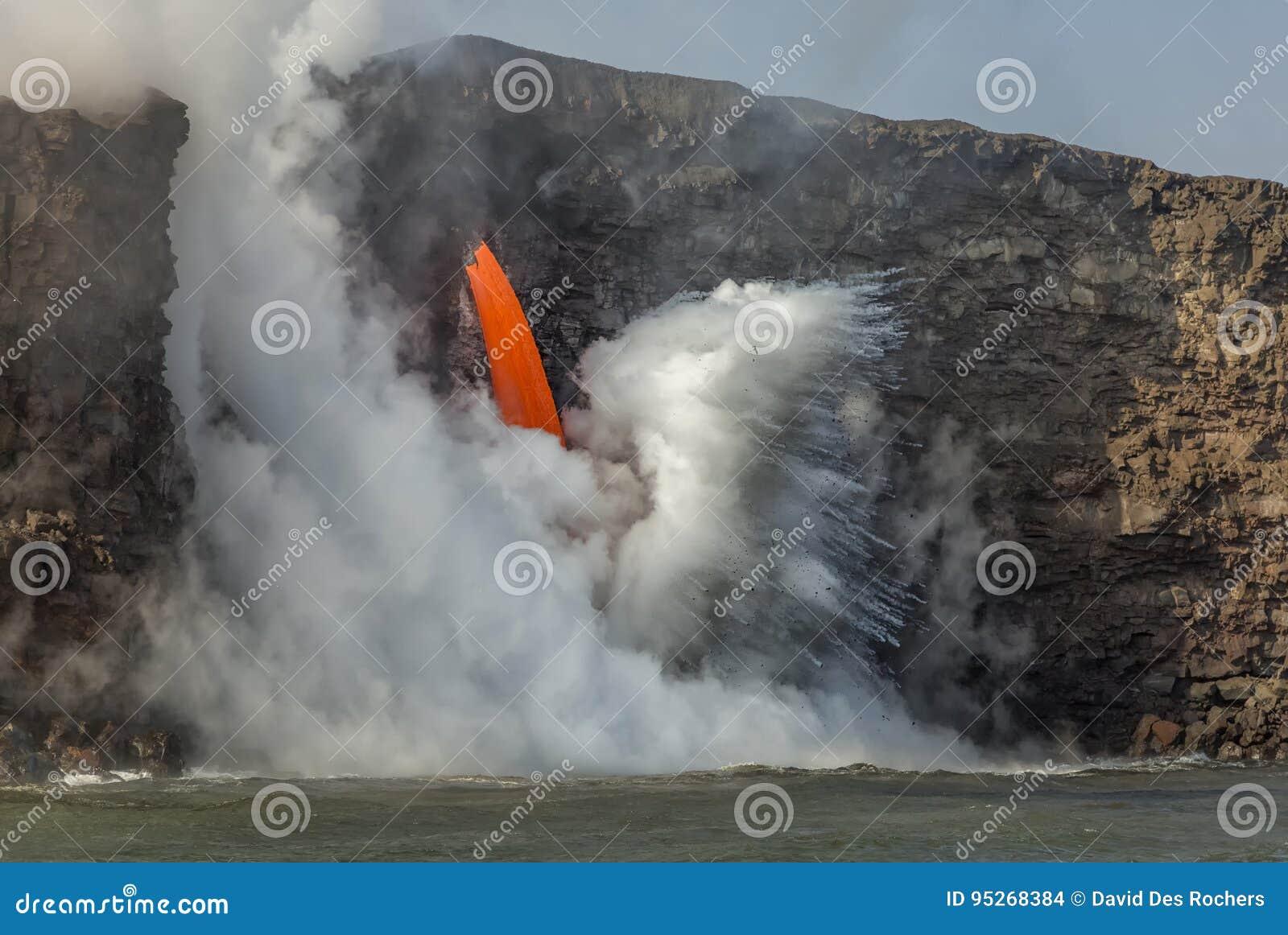 Fluxo de lava da mangueira de fogo