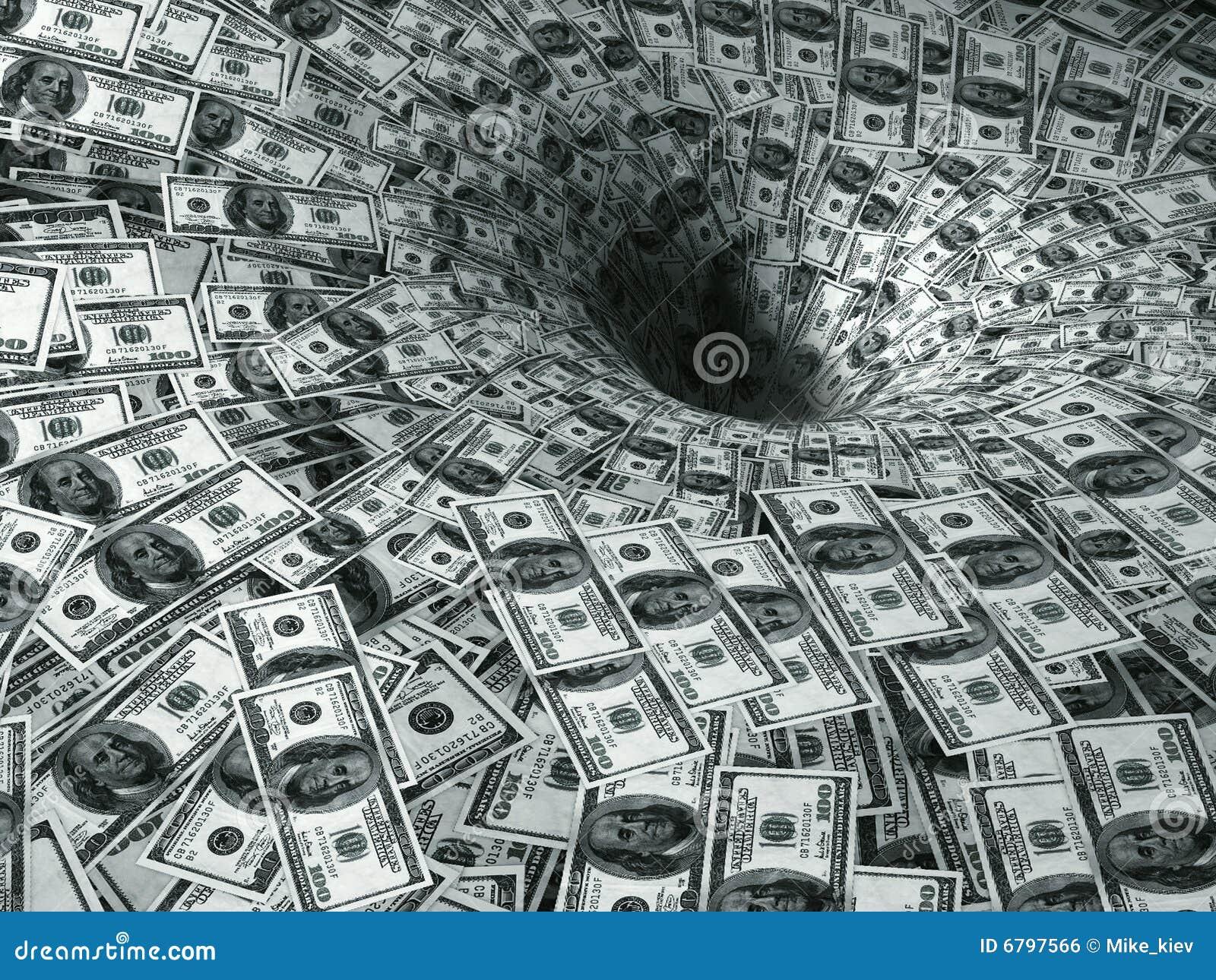 Fluxo do dólar no buraco negro