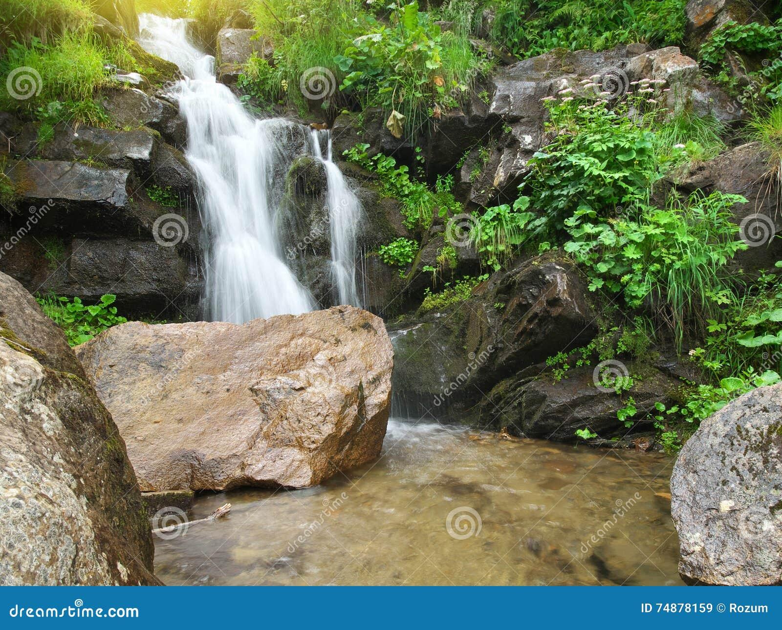 Fluxo do riacho da mola