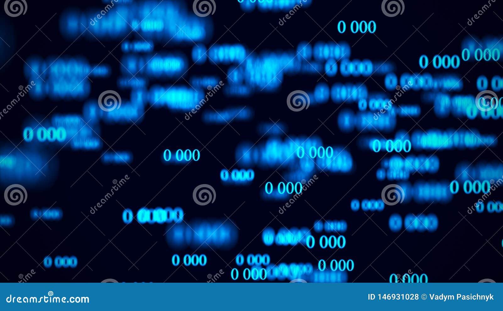 Fluxo dos zero Matriz do fundo de Digitas rendi??o 3d Fundo do c?digo bin?rio programa??o Programador web