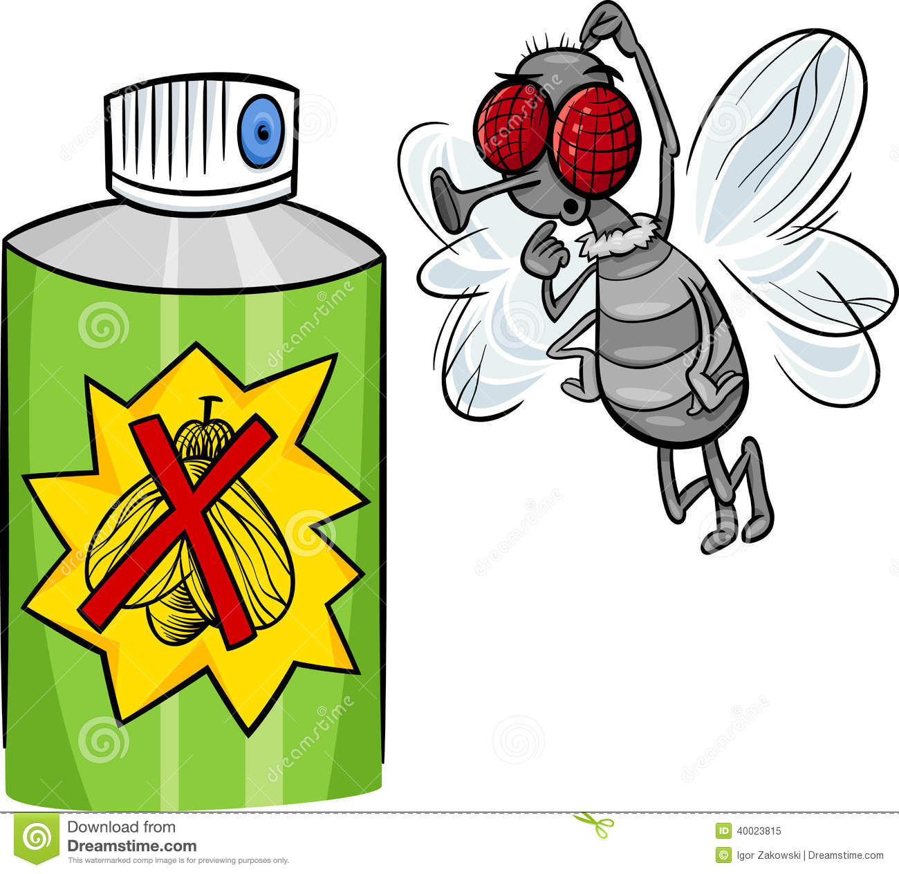 Bug spray cartoon - photo#1