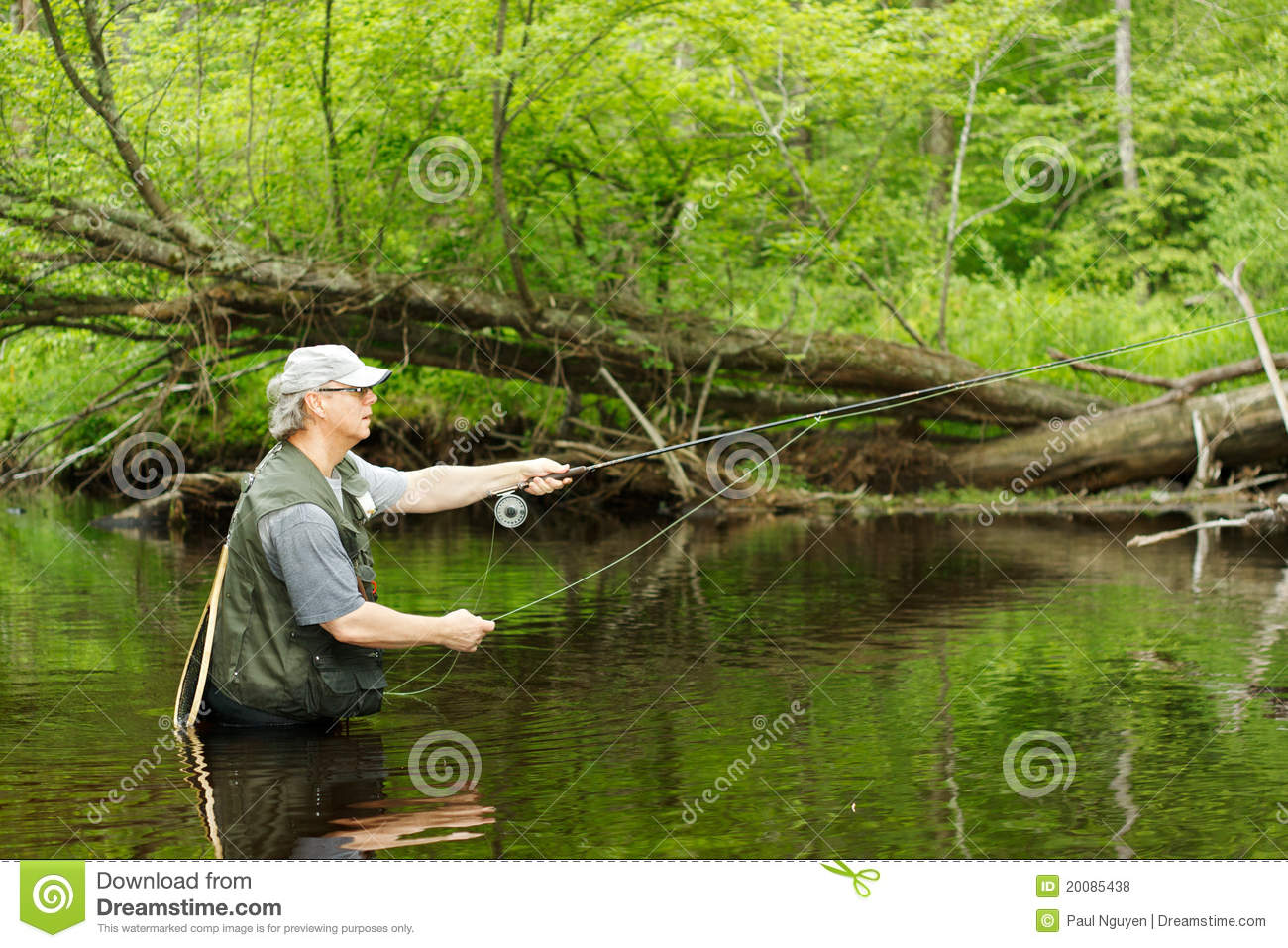 Fly fishing royalty free stock photos image 20085438 for Fishing times free