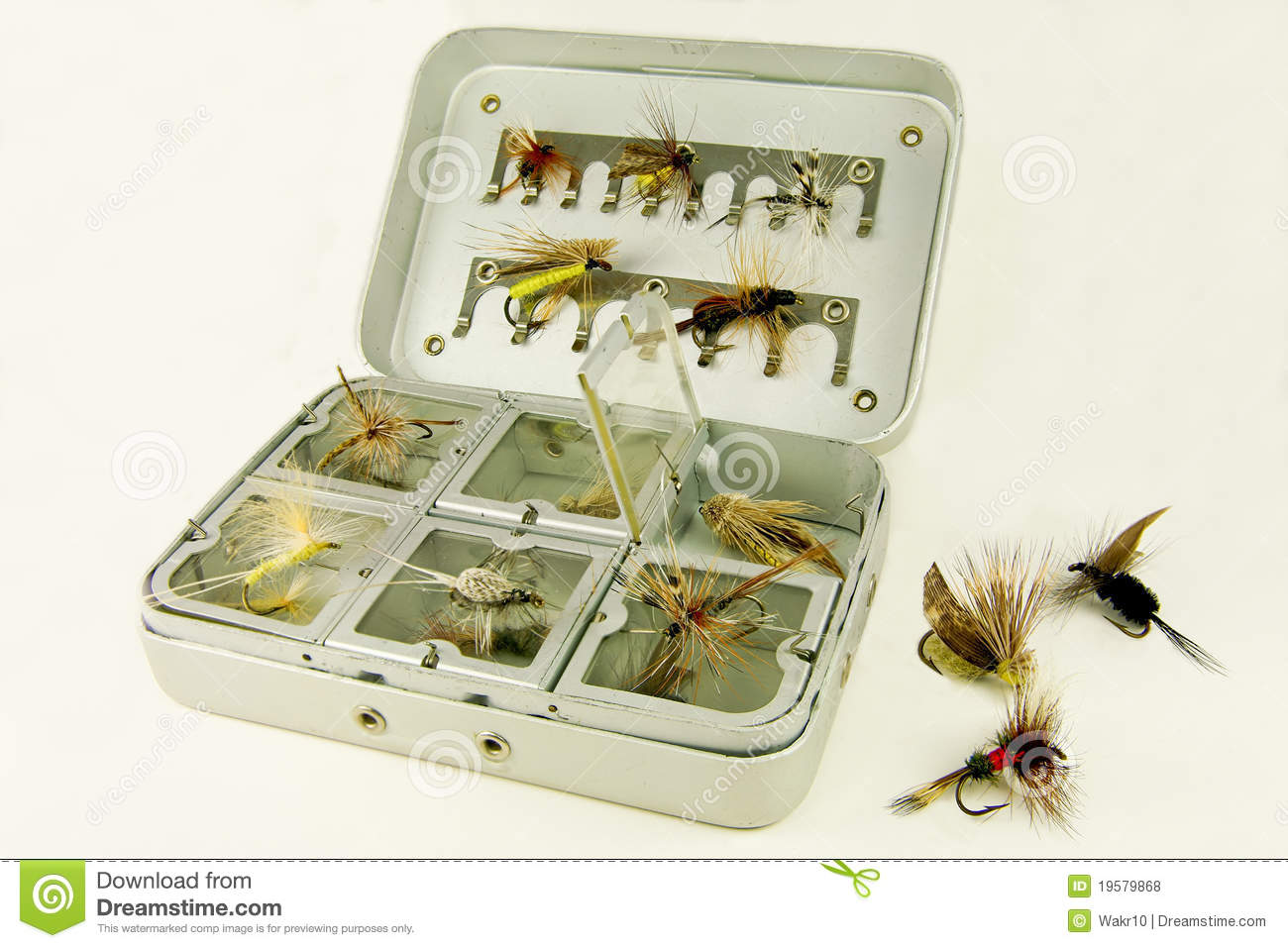 Fly fishing box royalty free stock photos image 19579868 for Fly fishing subscription box